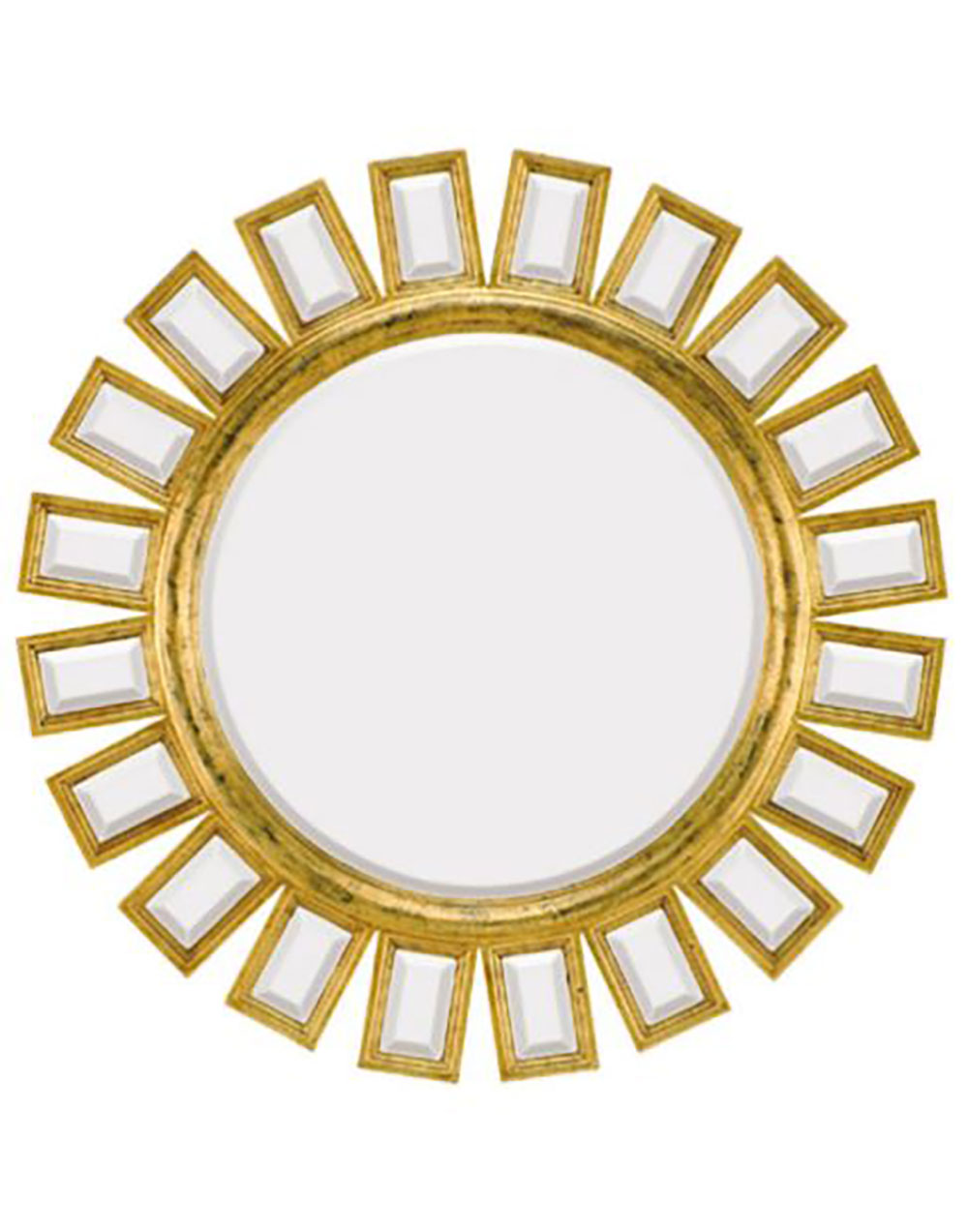Majestic Mirror Round Gold Ornate Bevel Glass Decorative Mirror 34in ...