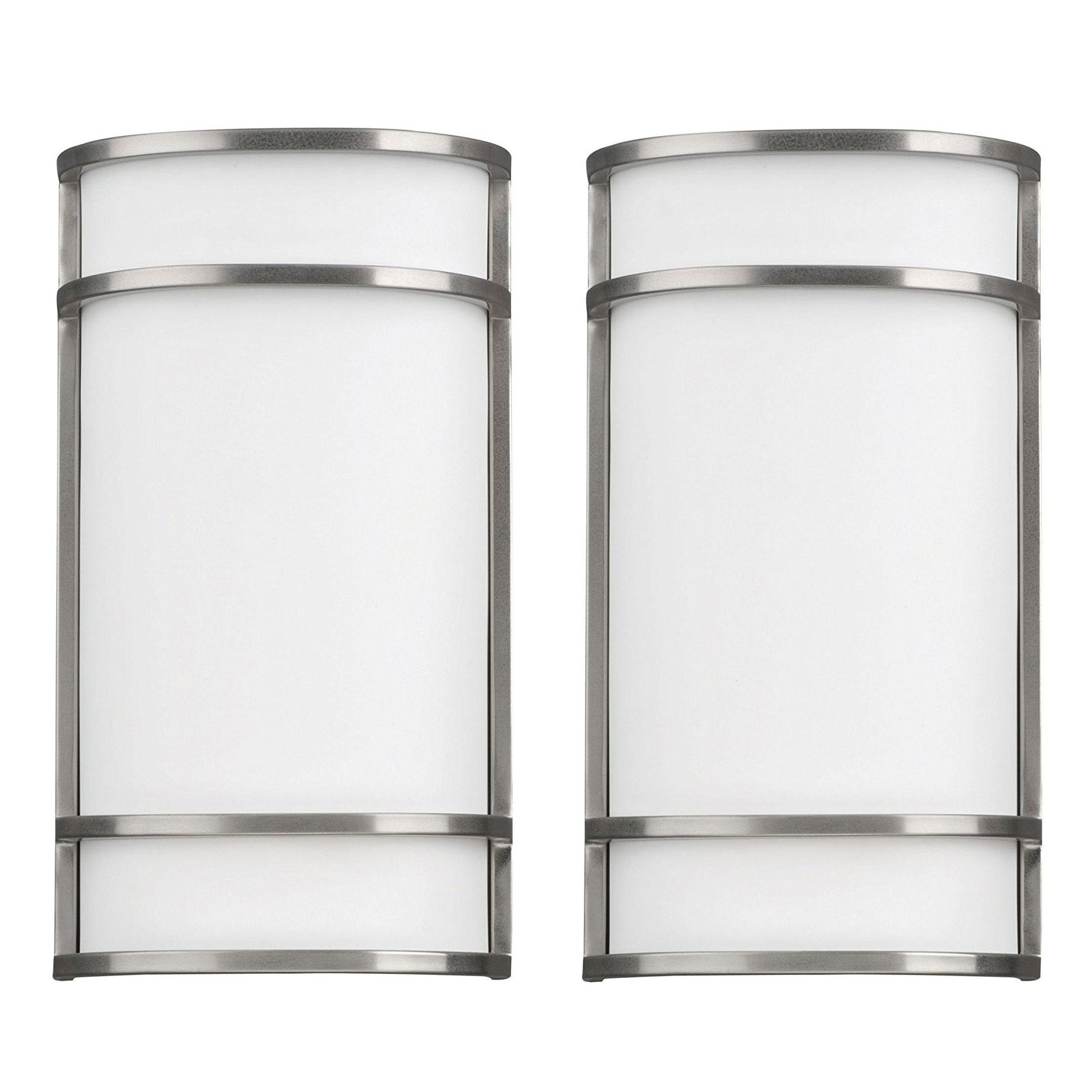 Details About Phillips Forecast Lighting Palette Bathroom Sconce Light Satin Nickel 2 Pack