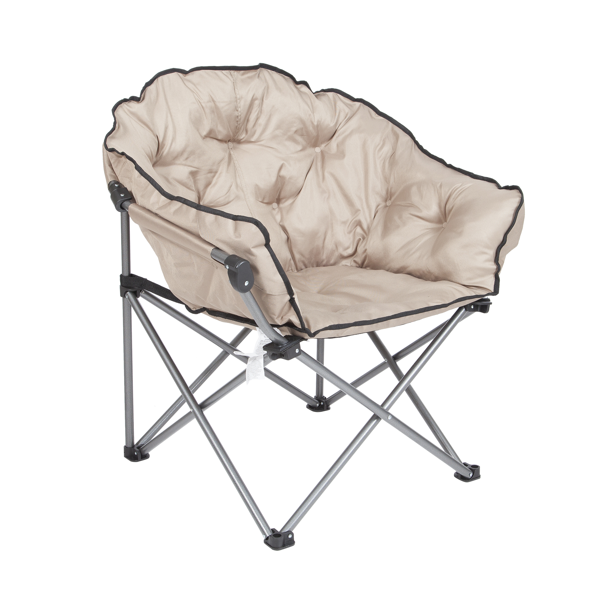 Amazing Details About Mac Sports Foldable Padded Outdoor Club Camping Chair With Carry Bag Beige Uwap Interior Chair Design Uwaporg