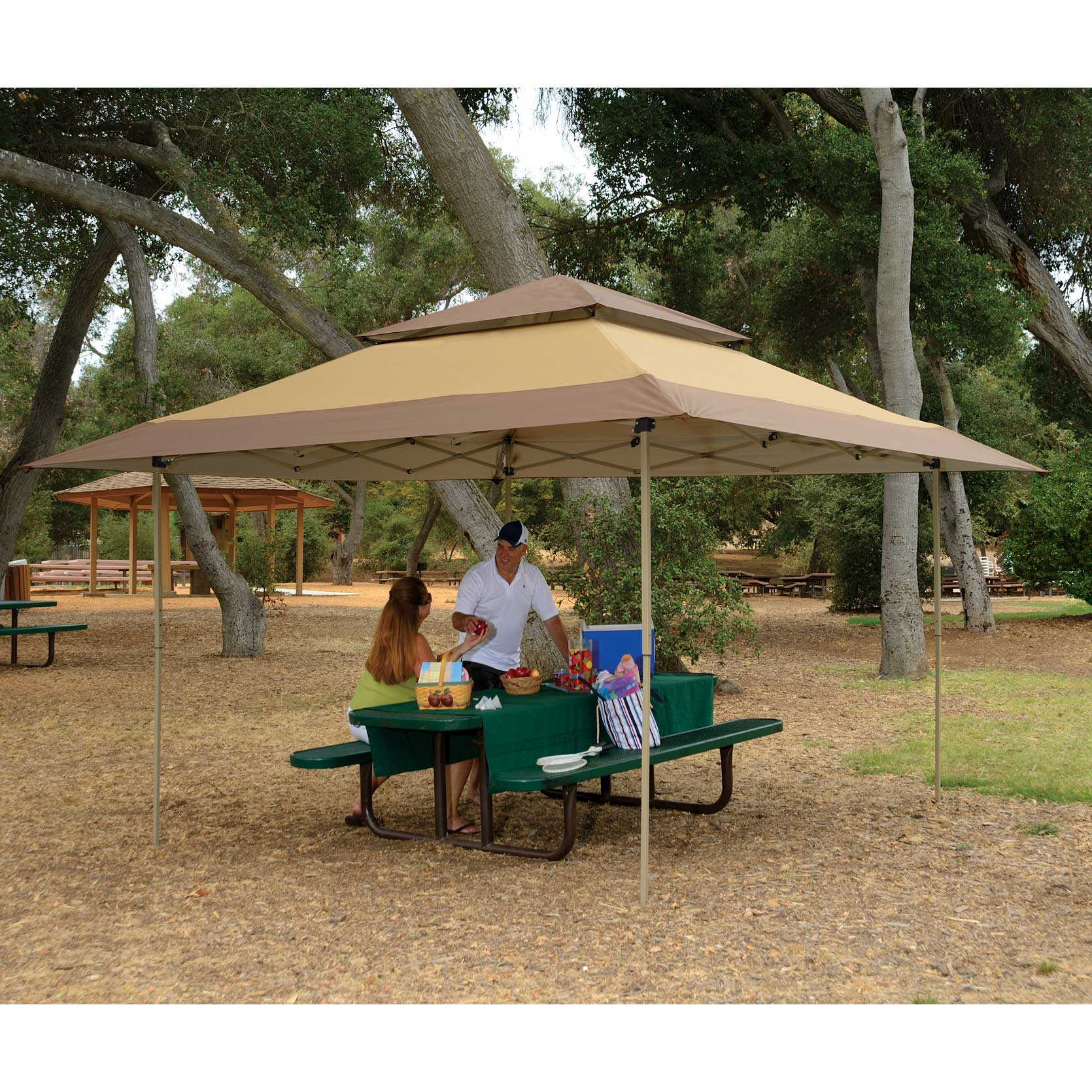 Z Shade 13 X Foot Instant Gazebo Canopy Tent Outdoor Patio Shelter Tan Brown