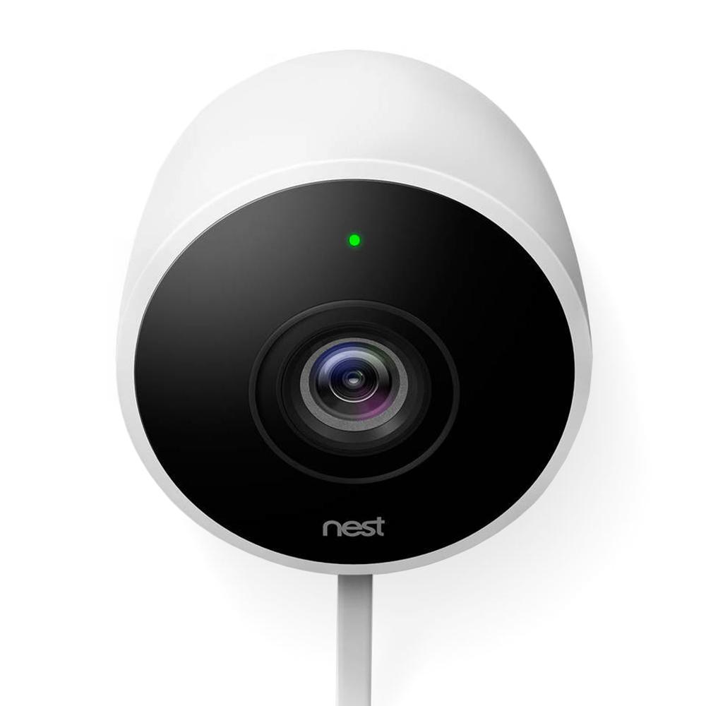 nest cam outdoor hd security surveillance camera w 2 way. Black Bedroom Furniture Sets. Home Design Ideas