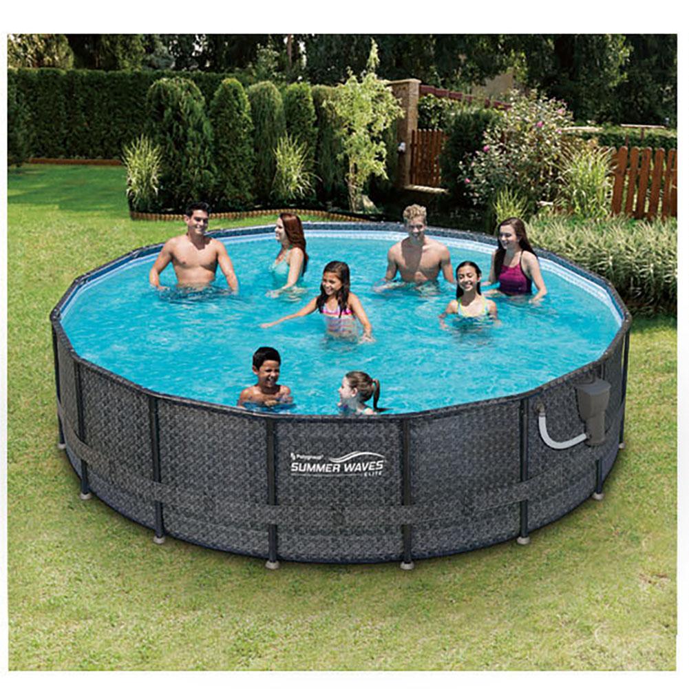 Summer waves elite wicker print 16 39 x 48 above ground for Summer waves above ground pool review