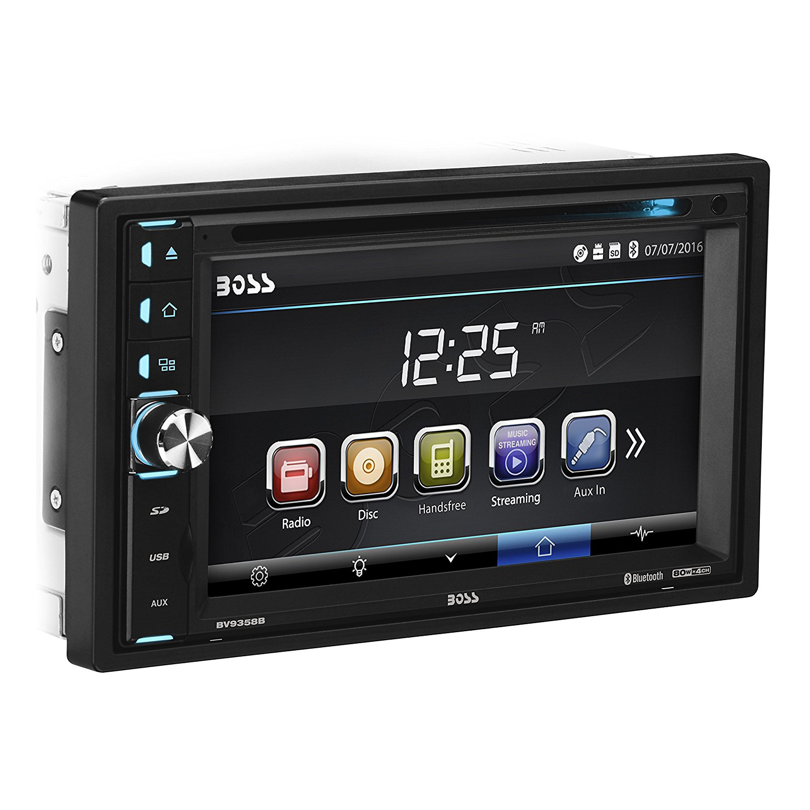boss double din 320 watt 6 5 touchscreen bluetooth car. Black Bedroom Furniture Sets. Home Design Ideas