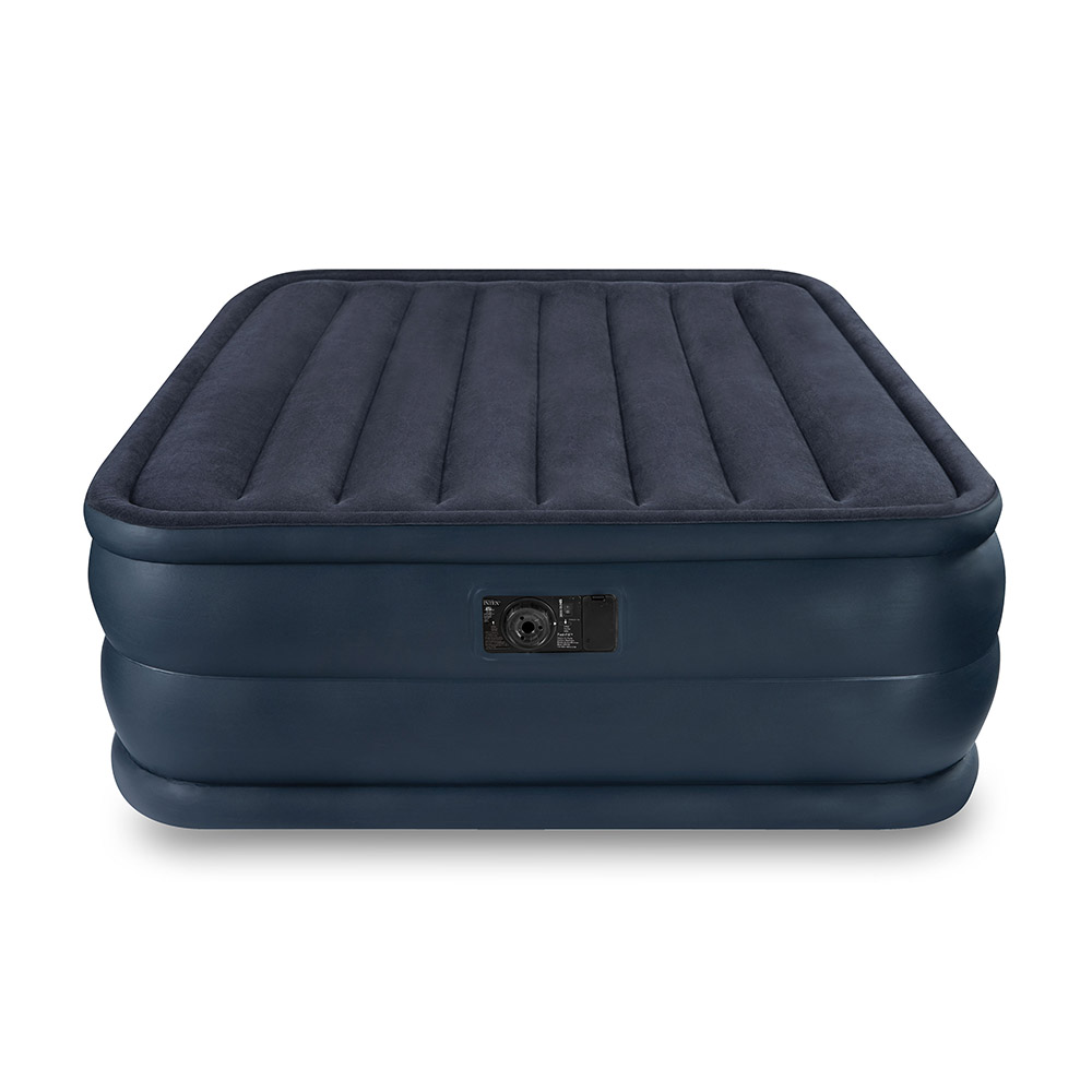 intex queen raised air mattress bed with built in electric. Black Bedroom Furniture Sets. Home Design Ideas