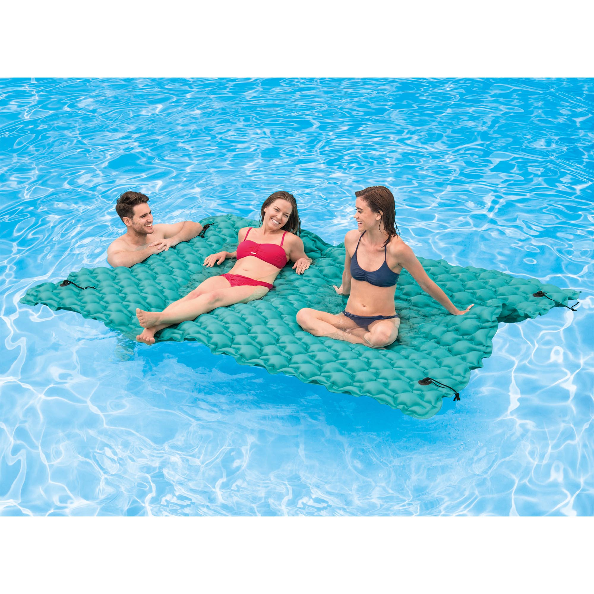 Intex giant 9 5 39 inflatable floating water swimming pool for Giant swimming pool