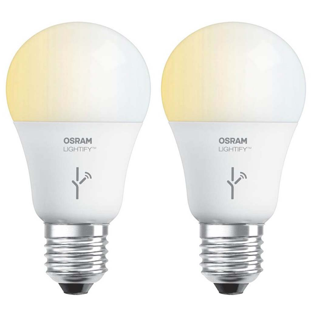 Sylvania osram lightify 60 watt a19 tunable smart home led light bulb 2 pack Smart light bulbs