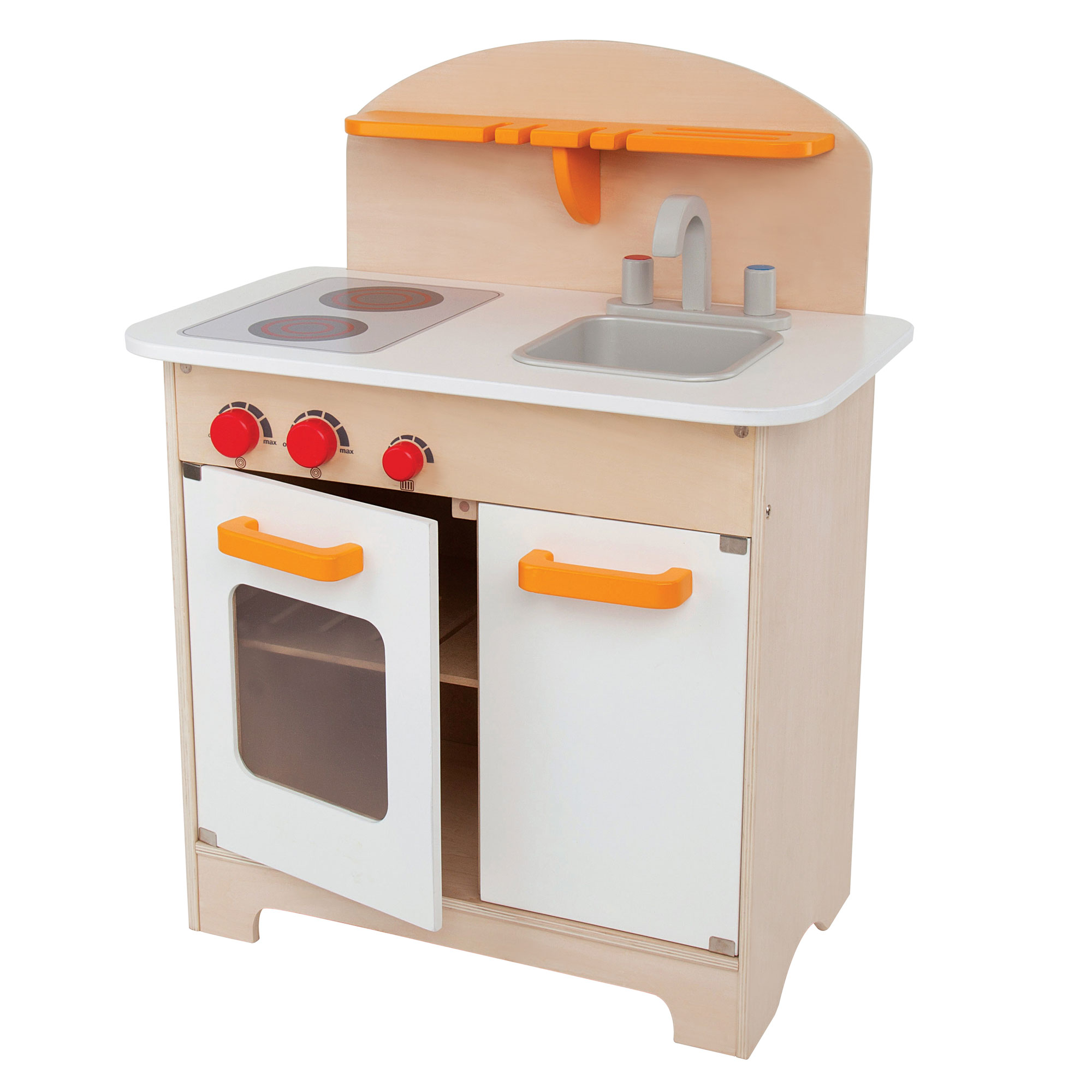 Hape Gourmet Kitchen Toddler & Kids Wooden Play Pretend Cooking ...