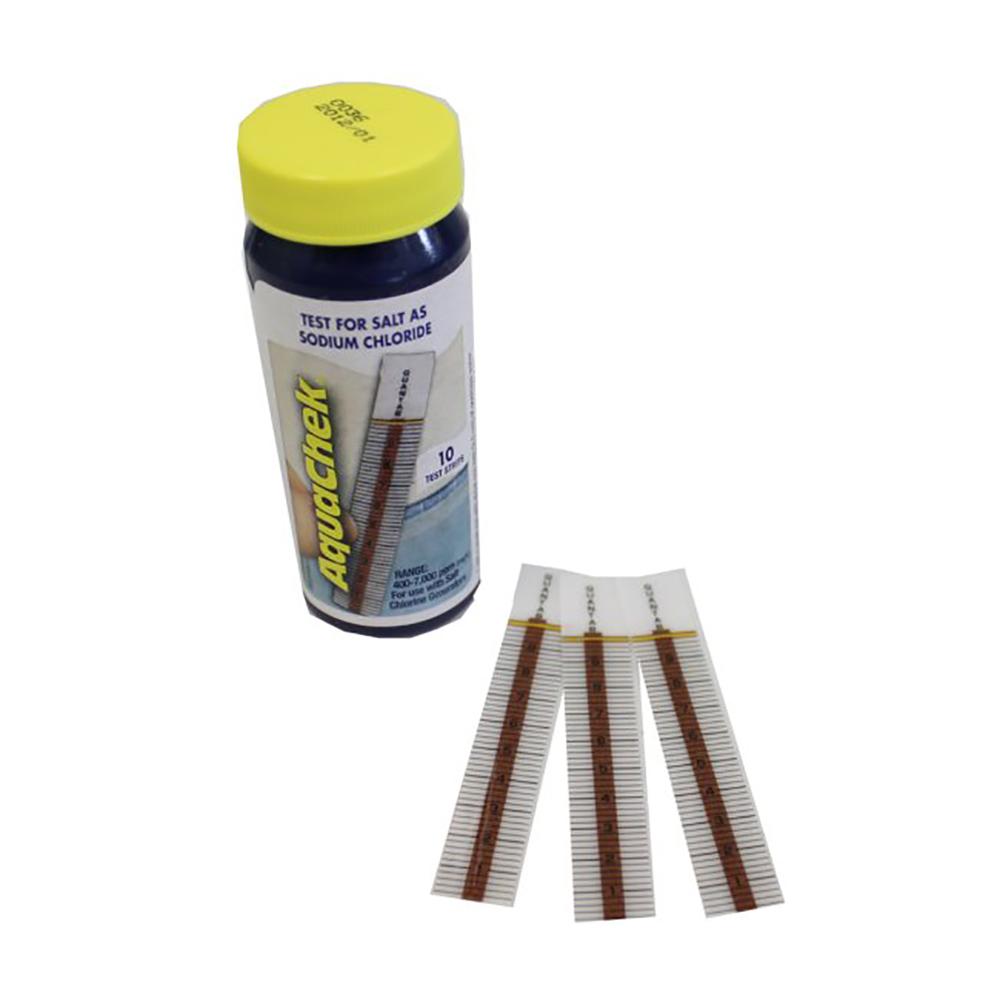 Aquachek Swimming Pool And Spa White Salt Sodium Chloride Test Kit 10 Strips 543528734595 Ebay