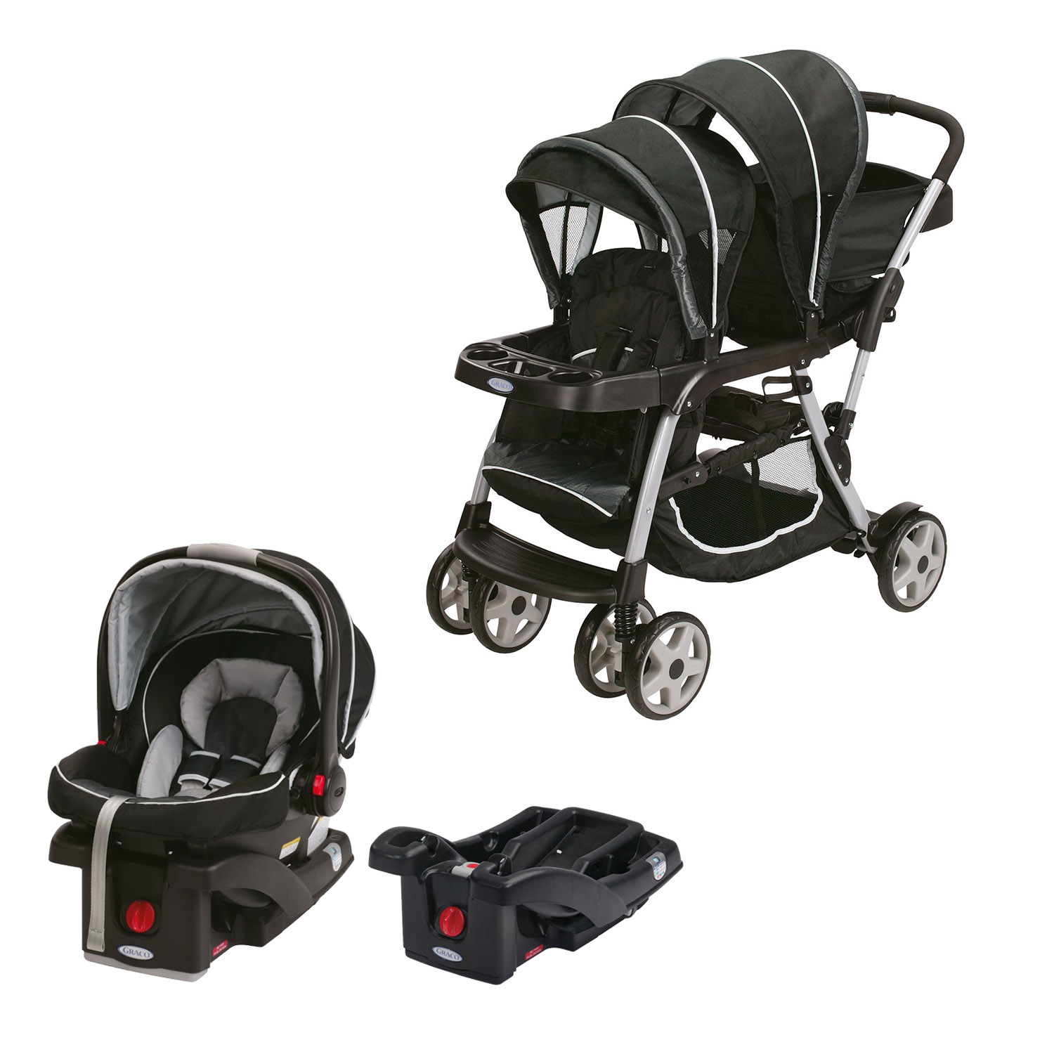 graco double baby stroller snugride car seat car seat base travel system ebay