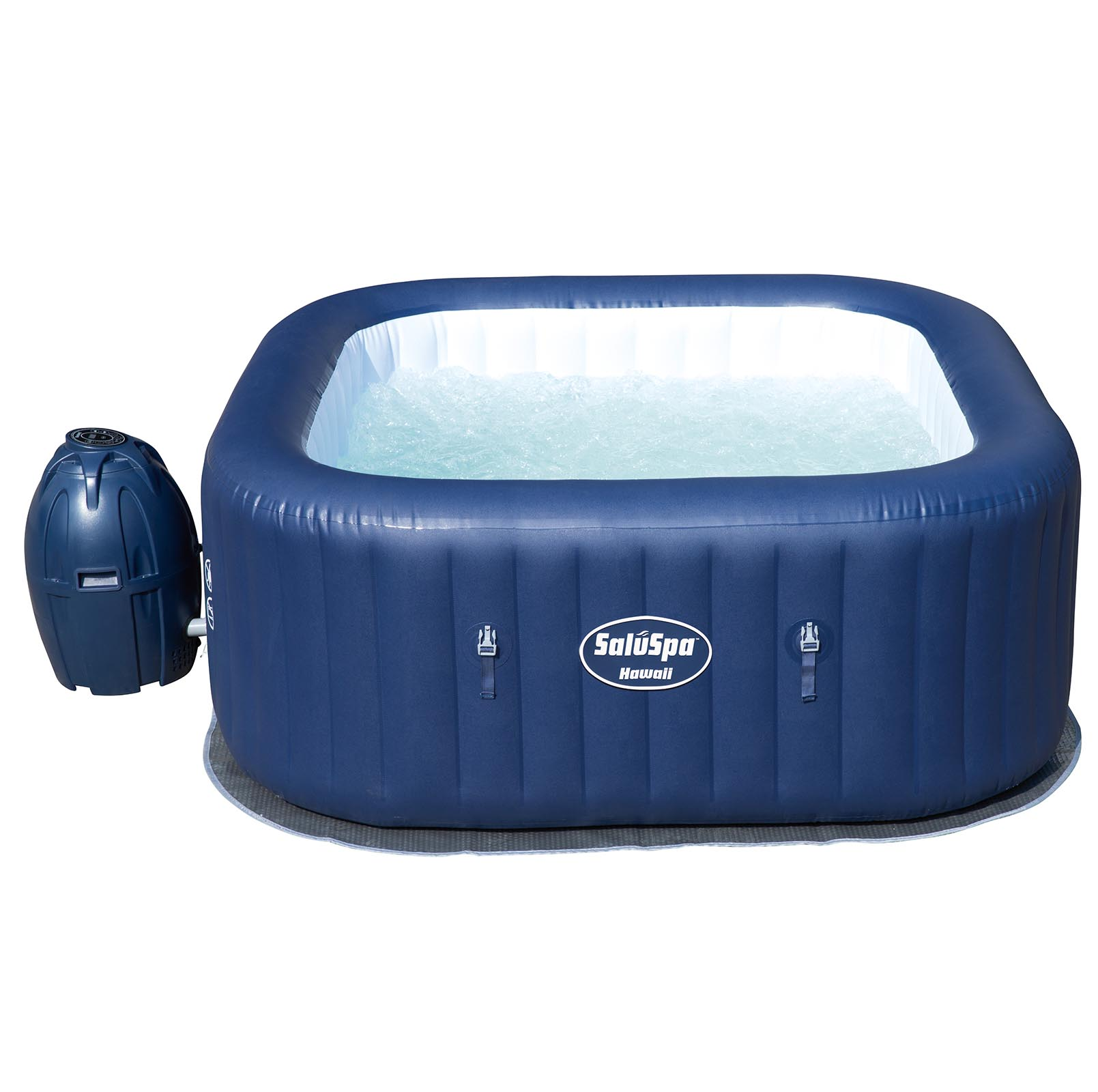 Bestway SaluSpa Hawaii AirJet 6-Person Portable Inflatable Spa Hot ...