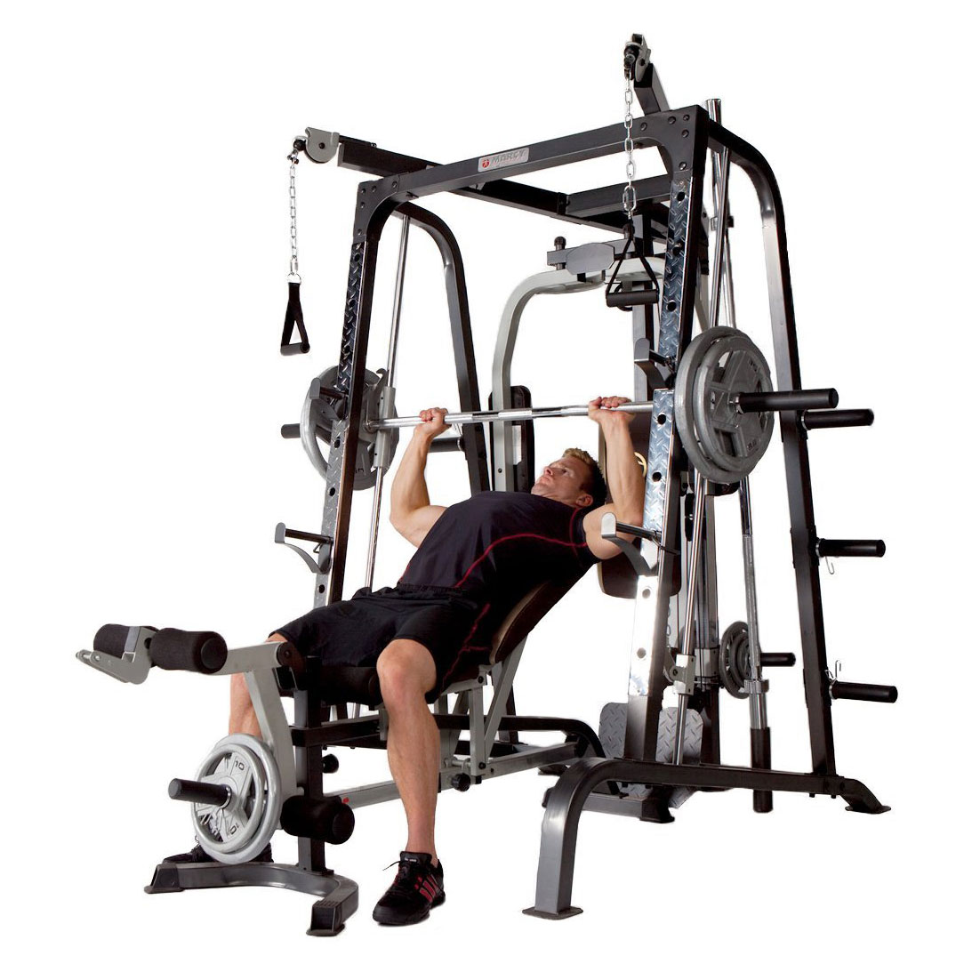 Marcy Deluxe Diamond Elite Smith Cage Home Workout Machine ...