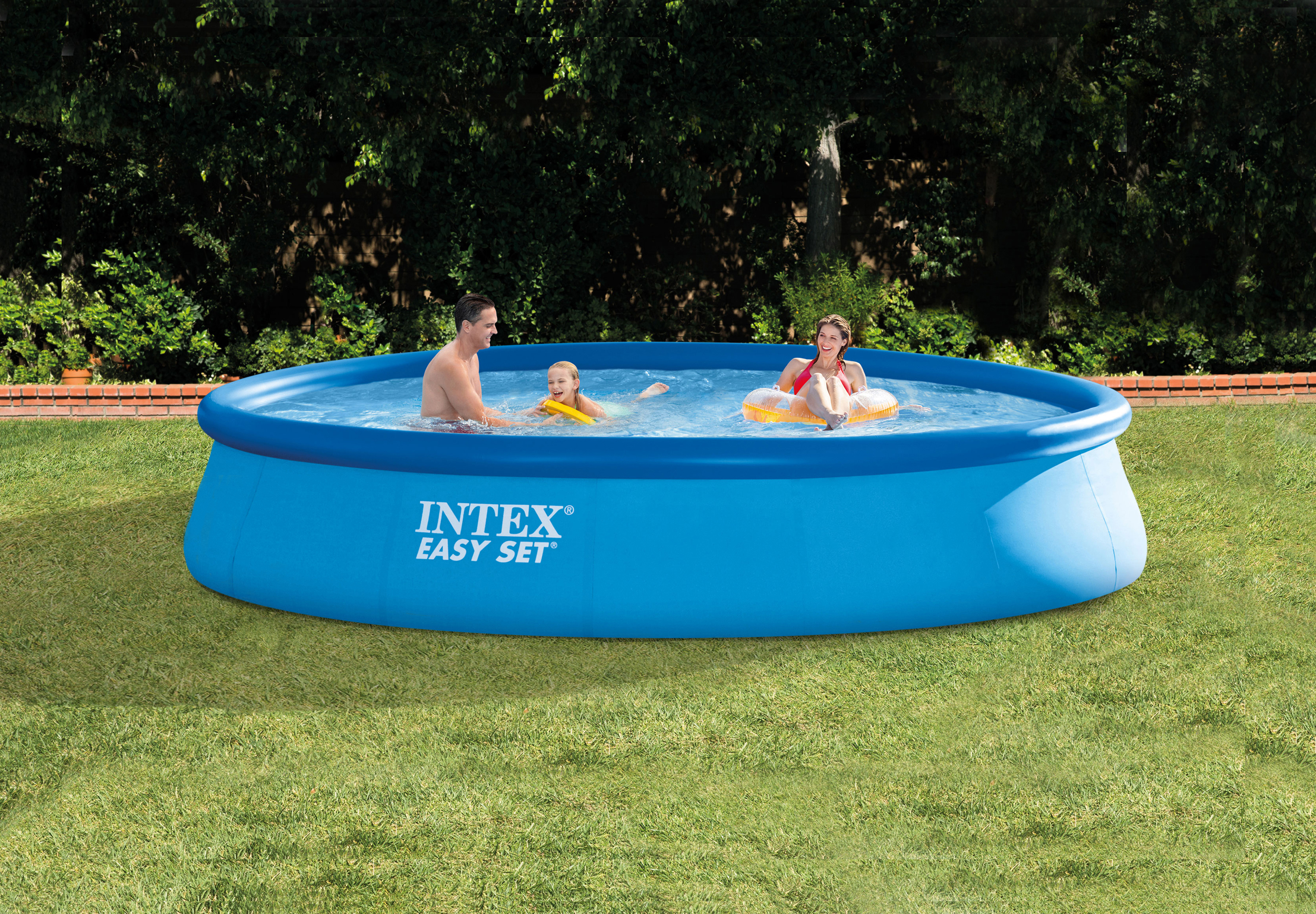 Intex 13 39 x 32 easy set above ground swimming pool kit for Intex pool 120 hoch
