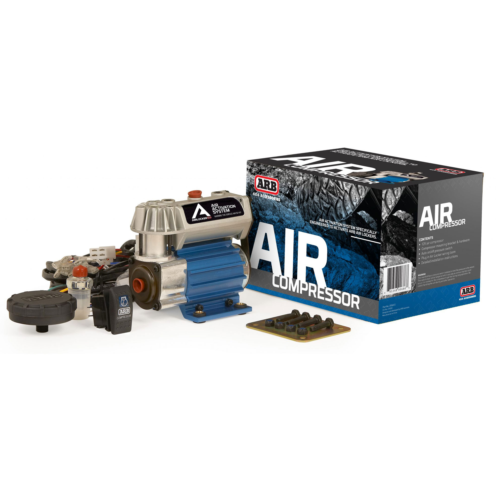 Arb Cksa12 On Board High Performance Compact 12 Volt Air Locker Wiring Harness Compressor