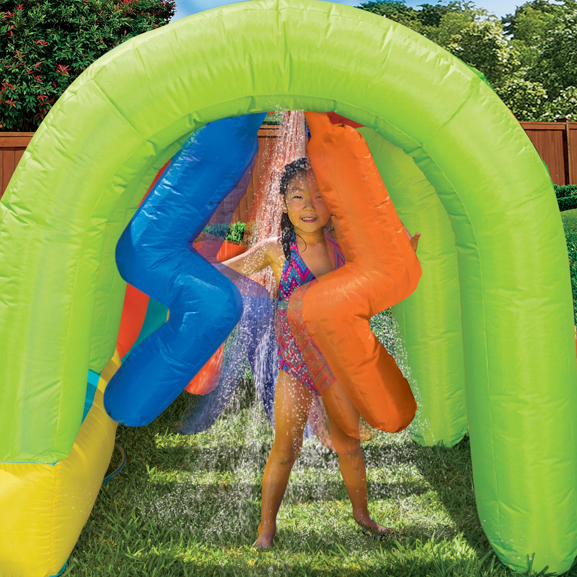 Pool Water Splash: Banzai Inflatable Summit Splash Adventure Splash Pool