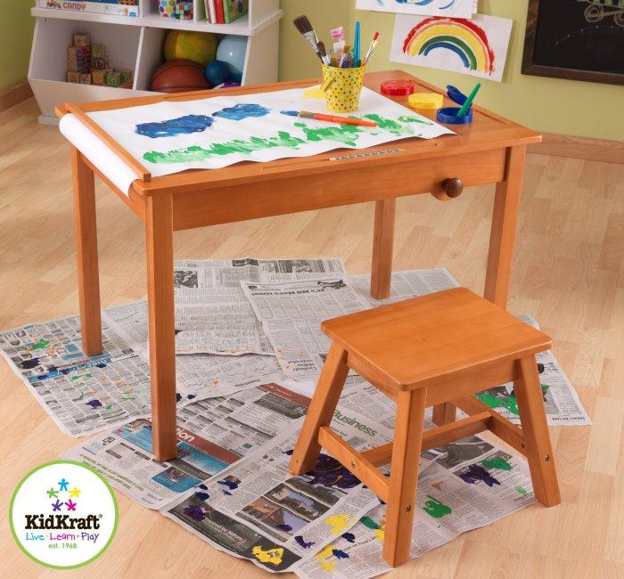 Kidkraft Wood Art Play Table With Stool 26952