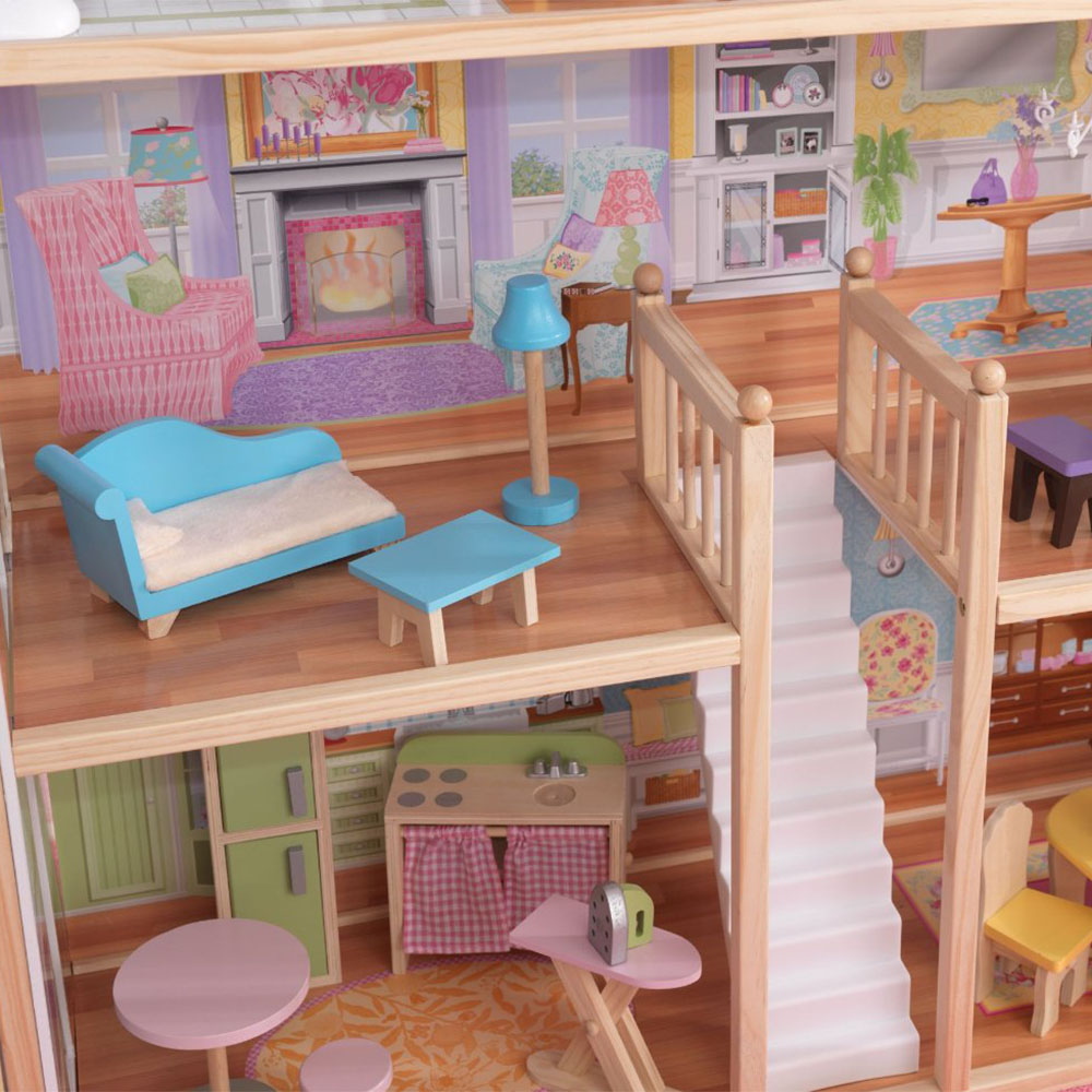 Kidkraft Majestic Mansion Pretend Play Wooden Dollhouse With Furniture 65252 Ebay