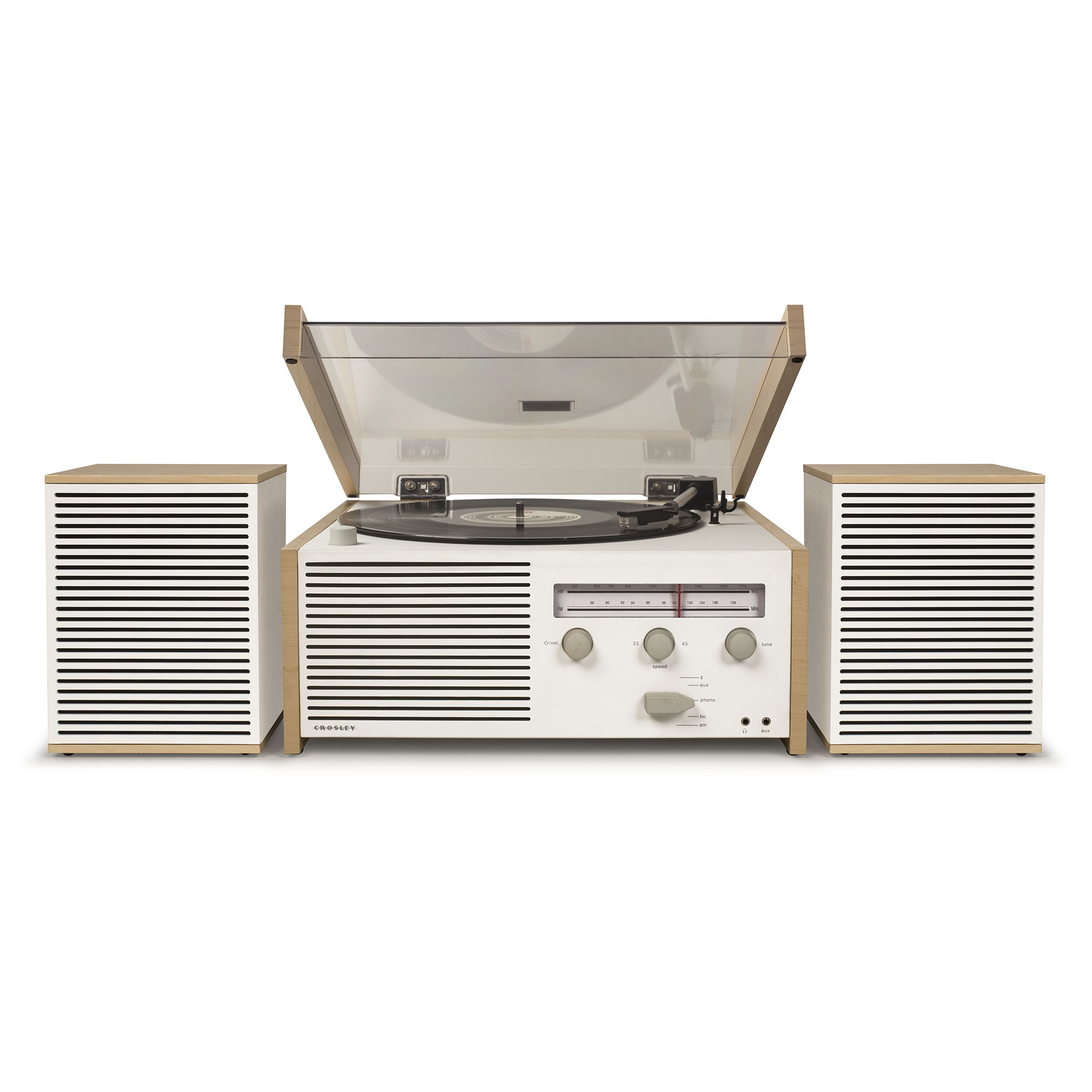 Crosley Switch Ii Belt Driven 2 Sd Turntable Record Player Shelf System