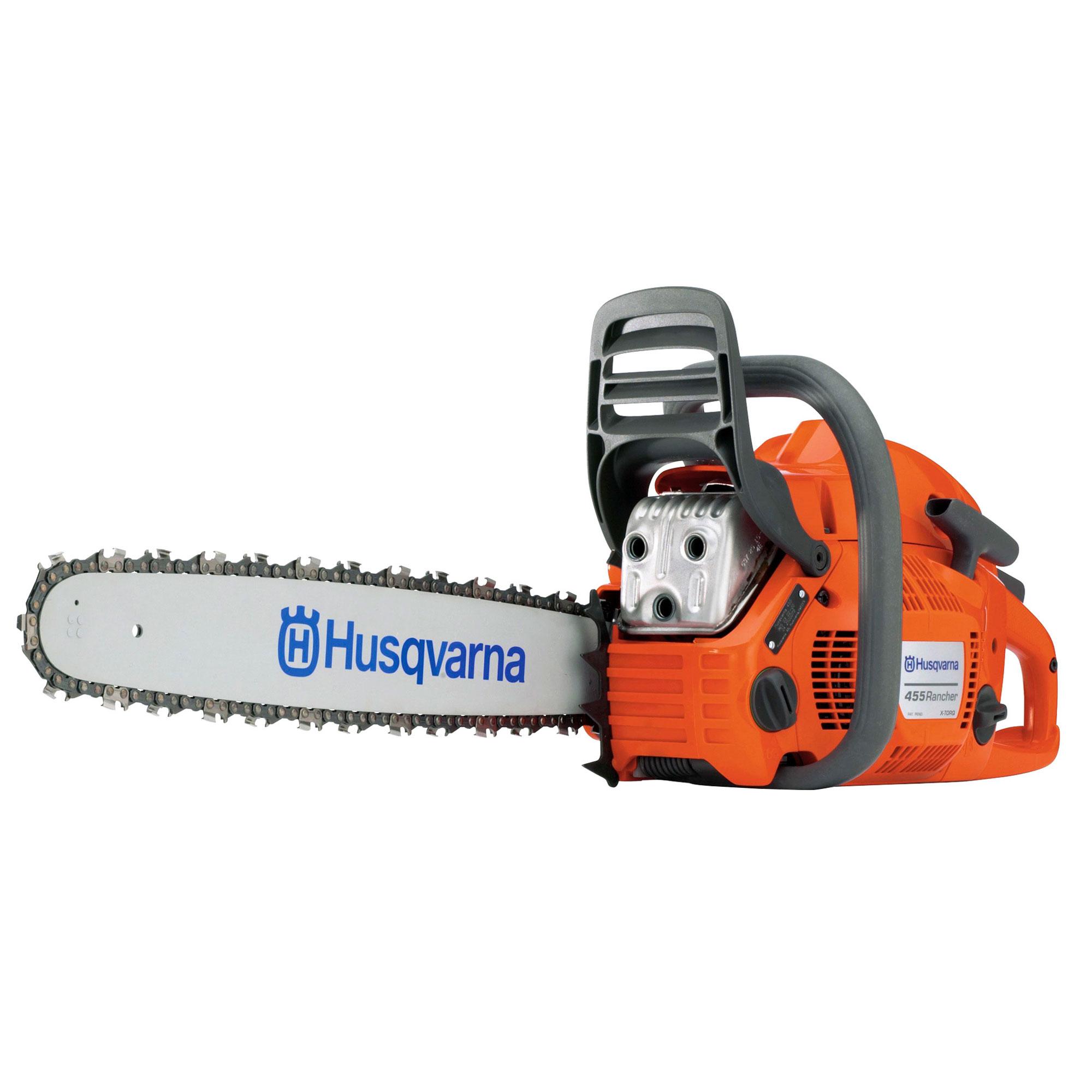 Husqvarna 455 Rancher 55 5cc 18 Inch 3/8 Pitch 3 49 HP Gas Chainsaw, Orange