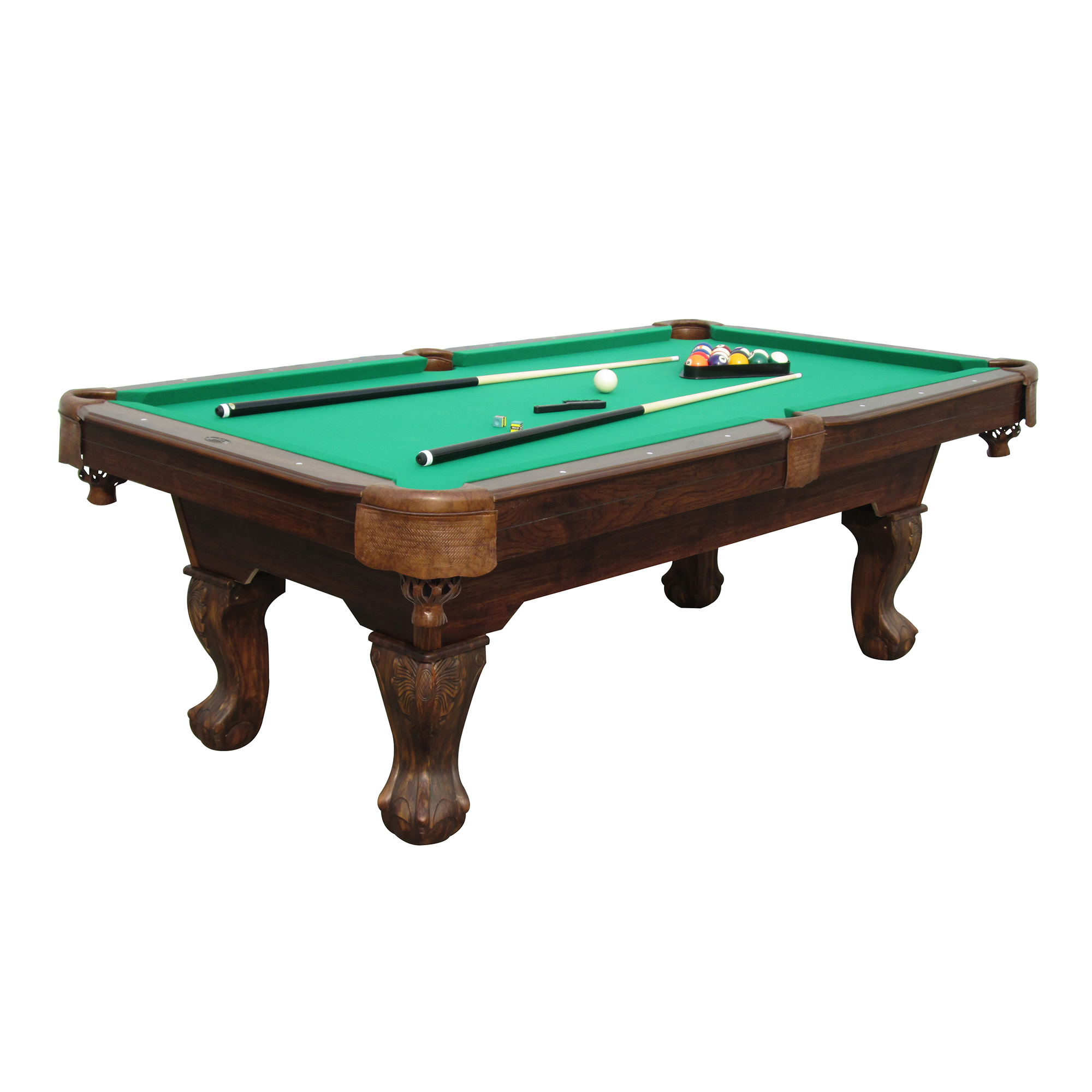 Sportcraft 7 5 39 ball and claw billiard pool table with cue rack and ac - Billiard table accessories ...