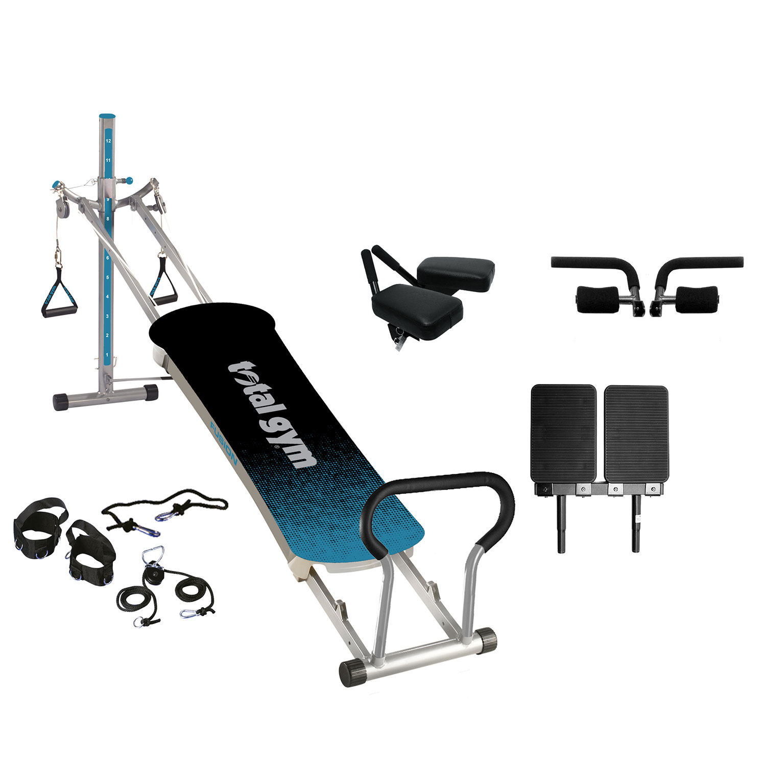 Total Gym Fitness Fusion Full Body Workout Home Exercise Machine Teal