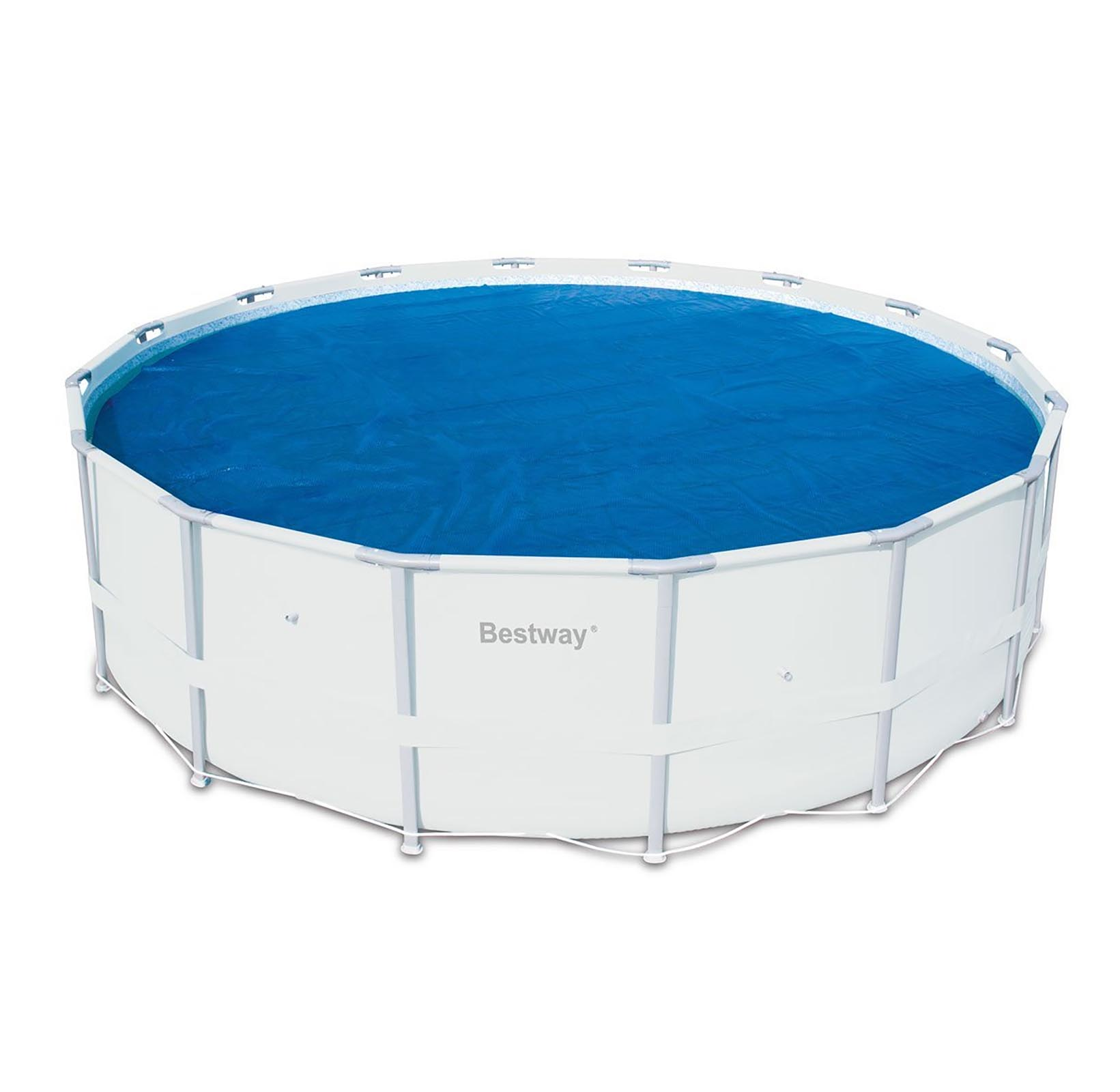Bestway 14 39 Round Floating Above Ground Swimming Pool Solar Heat Cover 58252e 821808582525 Ebay