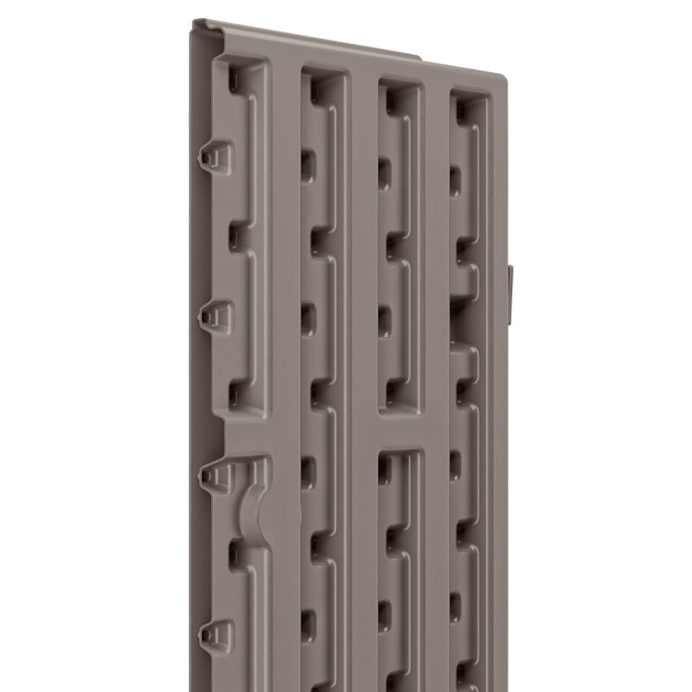 Suncast 4 Cubic Feet Resin Single Shelf Garage Wall Storage Cabinet Platinum