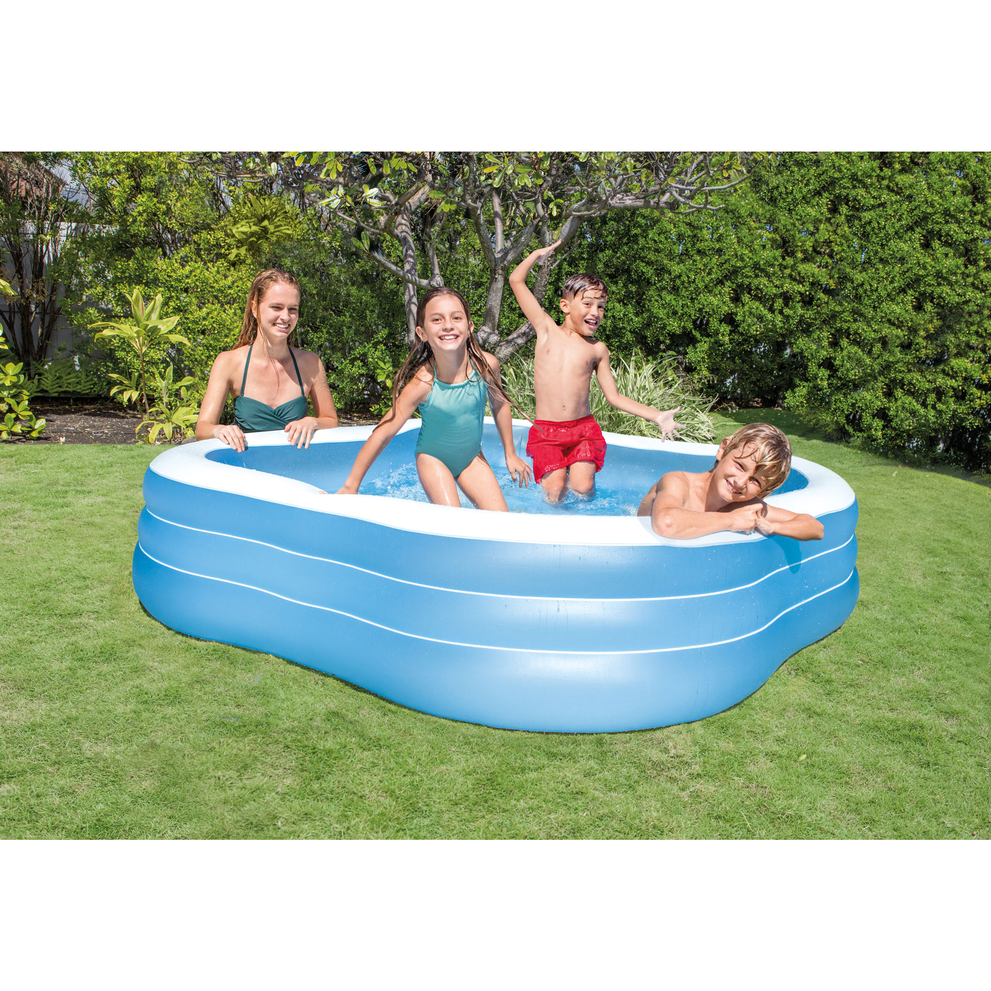 Intex swim center 90 x 90 x 22 inflatable summer family kids swimming pool ebay Intex inflatable swimming pool