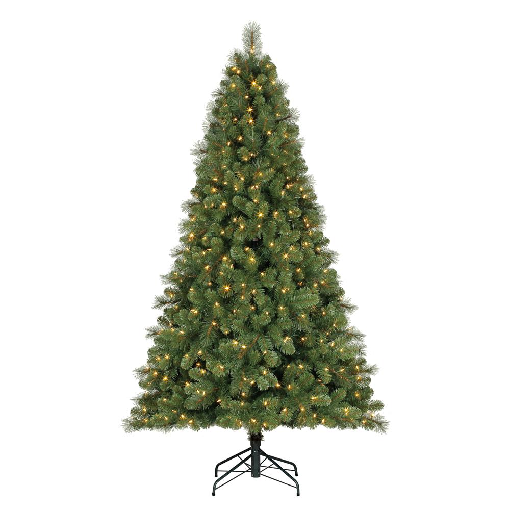 Home Heritage 9\' Artificial Cascade Pine Christmas Tree w Color ...
