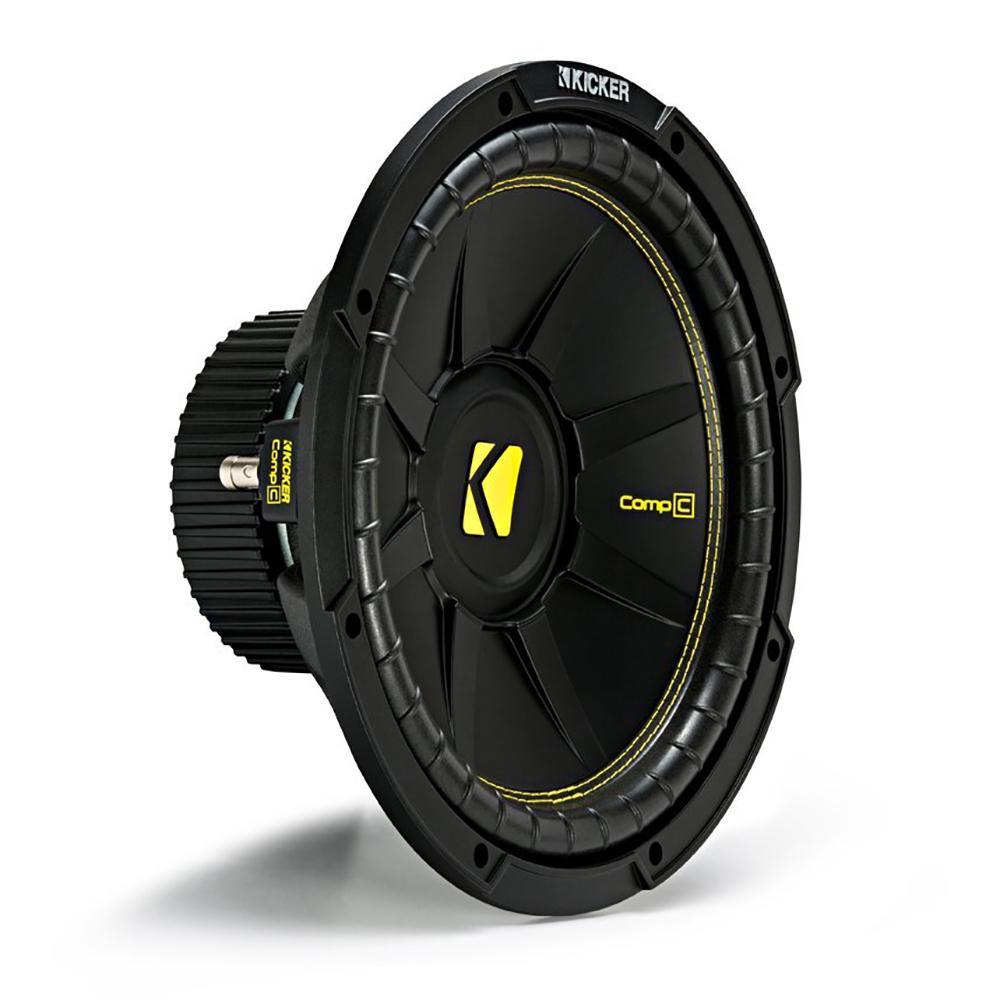 Amp Kit Kicker 44CWCS12 12 600W 2-Ohm Subwoofer AR1500M MONO 1500W Amplifier