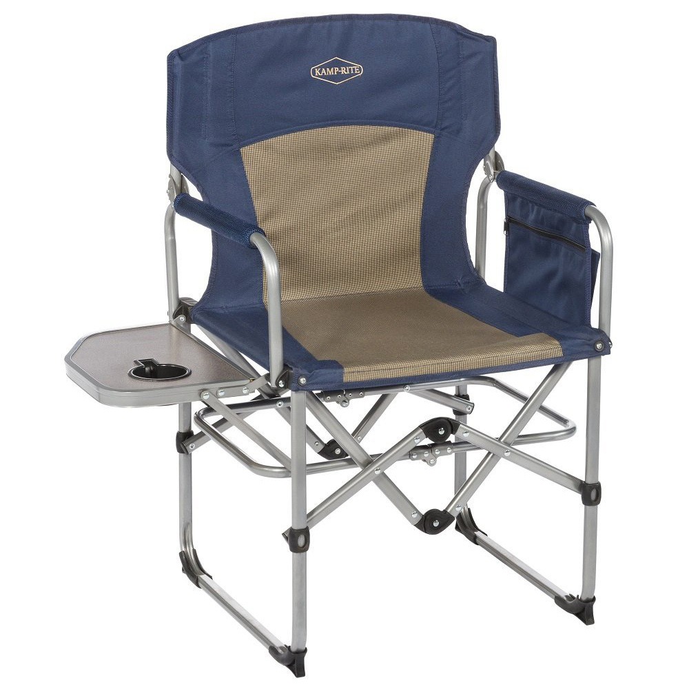 Folding Directors Chair With Side Table.Details About Kamp Rite Compact Folding Outdoor Camping Director S Chair With Side Table