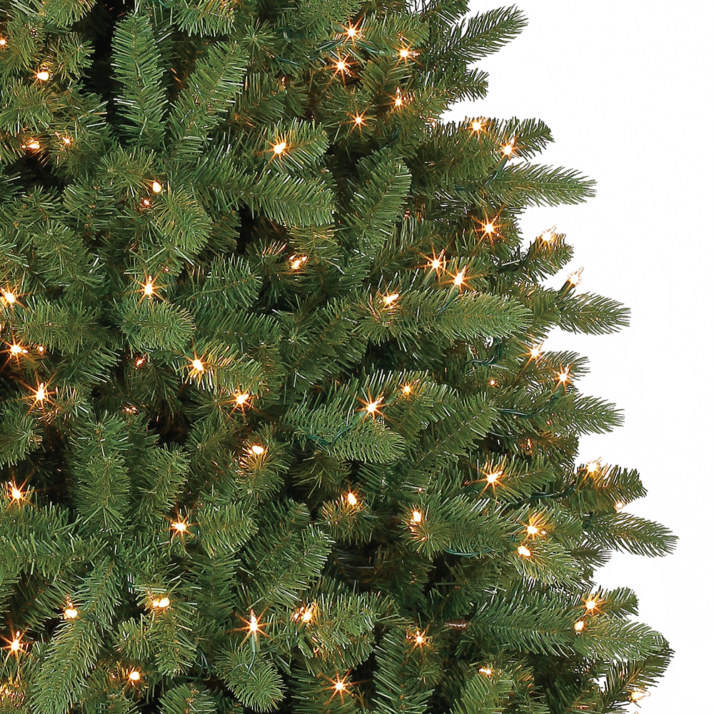 home heritage 75 artificial wilmington pine christmas tree with clear lights - White Pine Christmas Tree