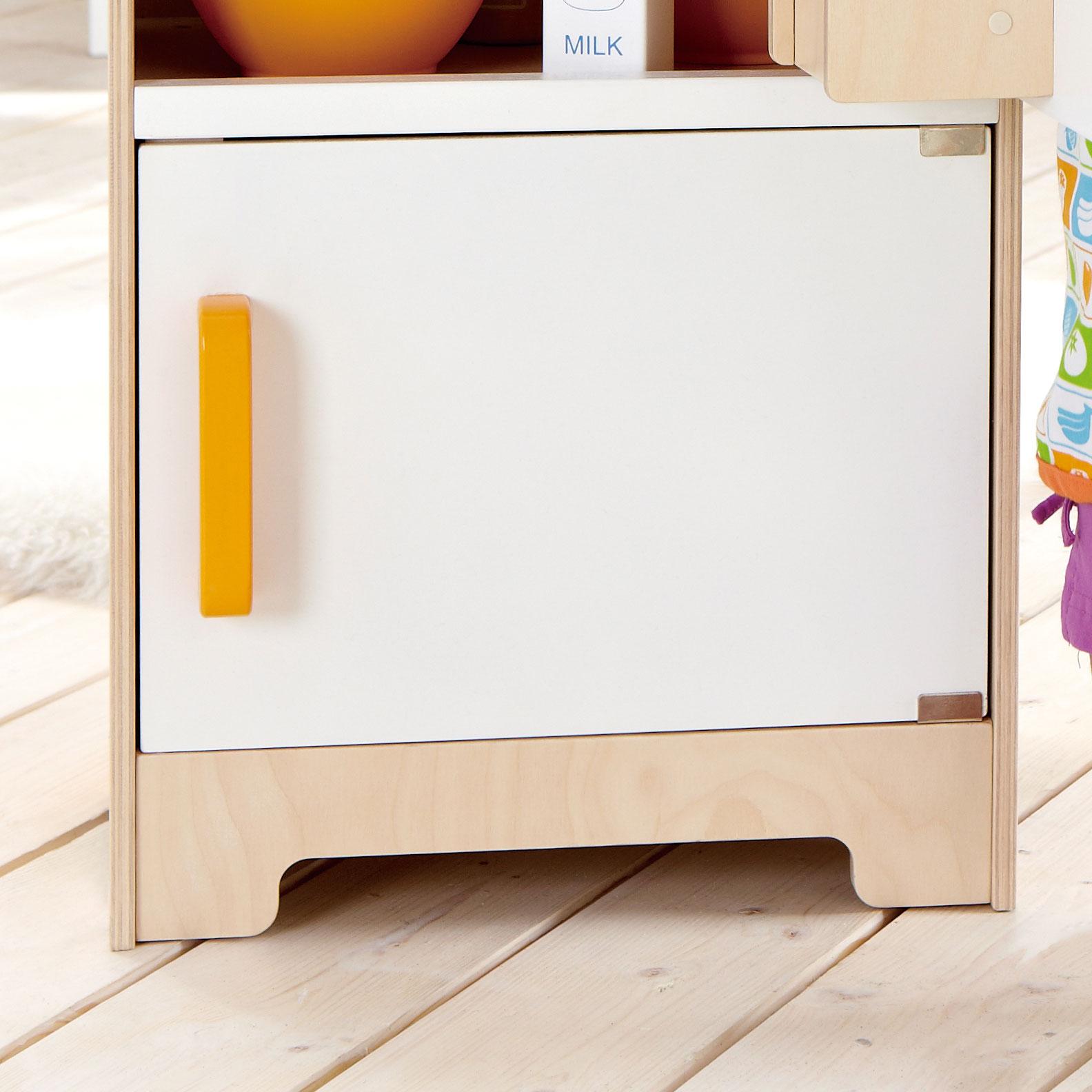 Hape Gourmet Wooden Kitchen Toddler & Kids Play Pretend Toy Fridge ...