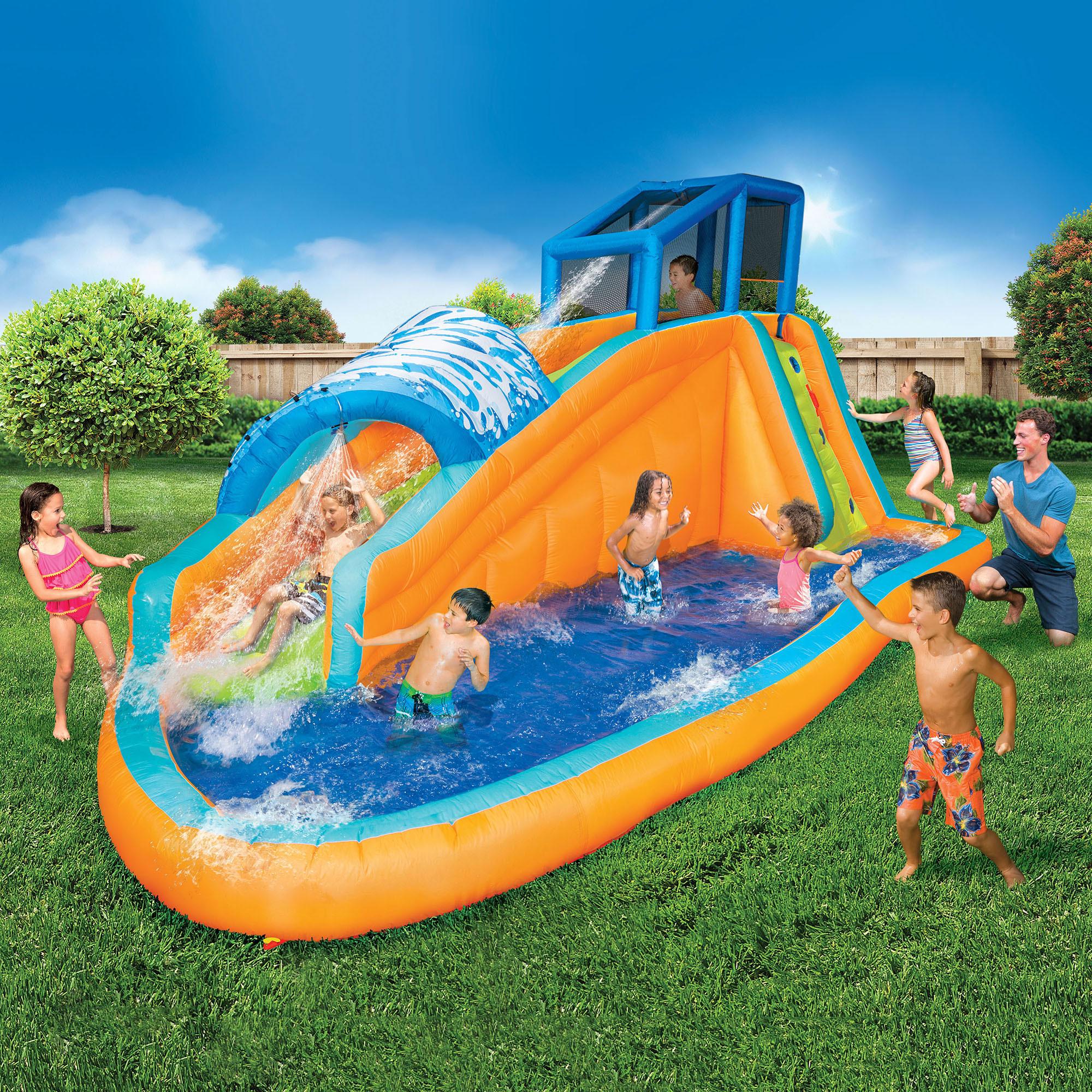 Banzai Kids Inflatable Outdoor Surf Rider Aqua Lagoon
