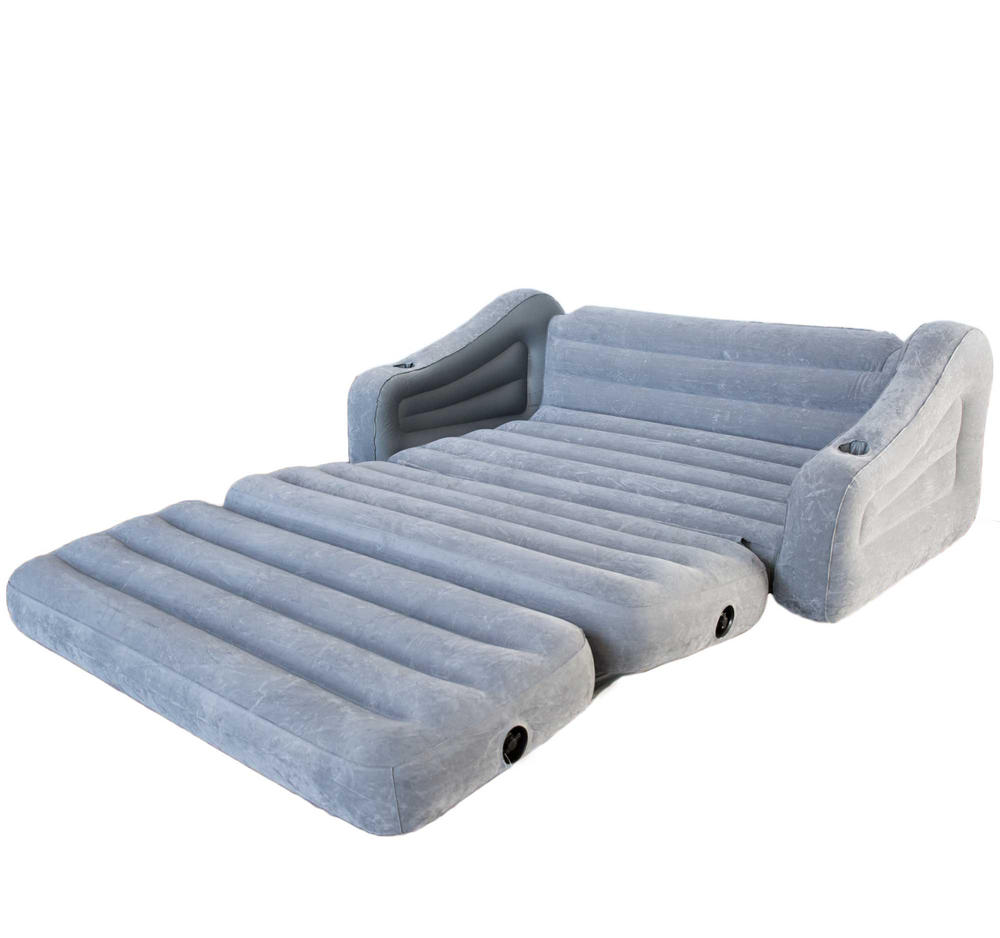 Intex inflatable 2 in 1 pull out sofa and queen air for Sofa bed air mattress