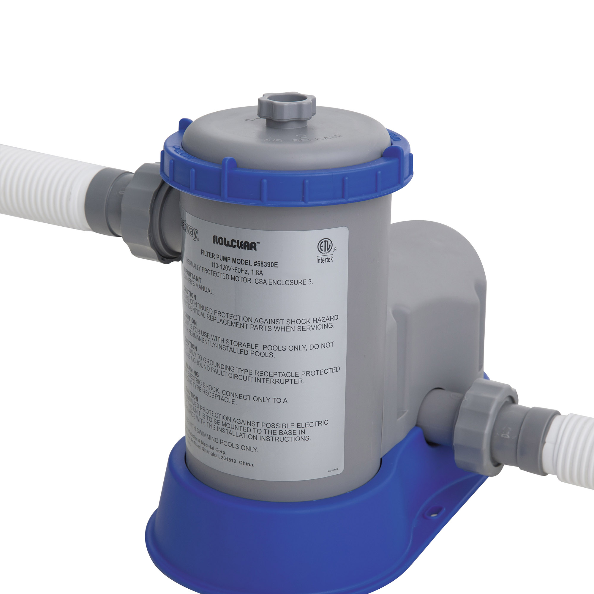 Bestway flow clear 1500 gph above ground swimming pool filter pump 58390e ebay for Swimming pool pumps for above ground pools