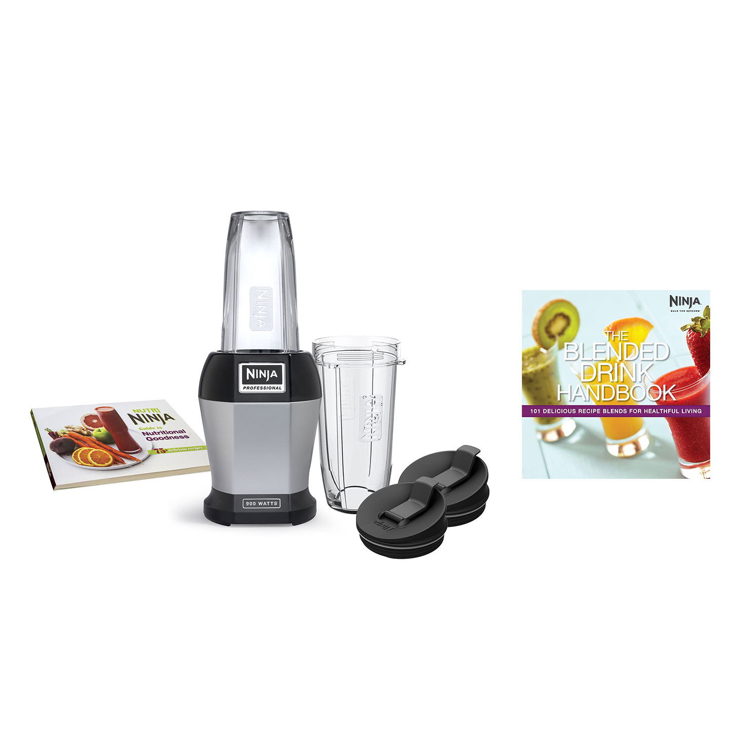 Nutri Ninja 900W Vitamin Extraction Smoothie Blender w/ 101 Healthy Recipe  Guide