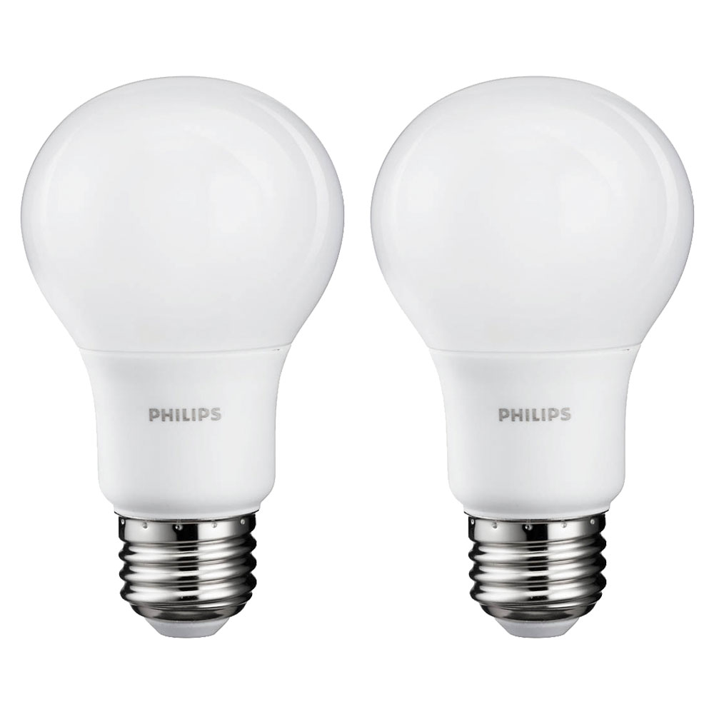 philips 8 watt a19 60 watt replacement 800 lumen daylight led light bulb 2 pack ebay. Black Bedroom Furniture Sets. Home Design Ideas