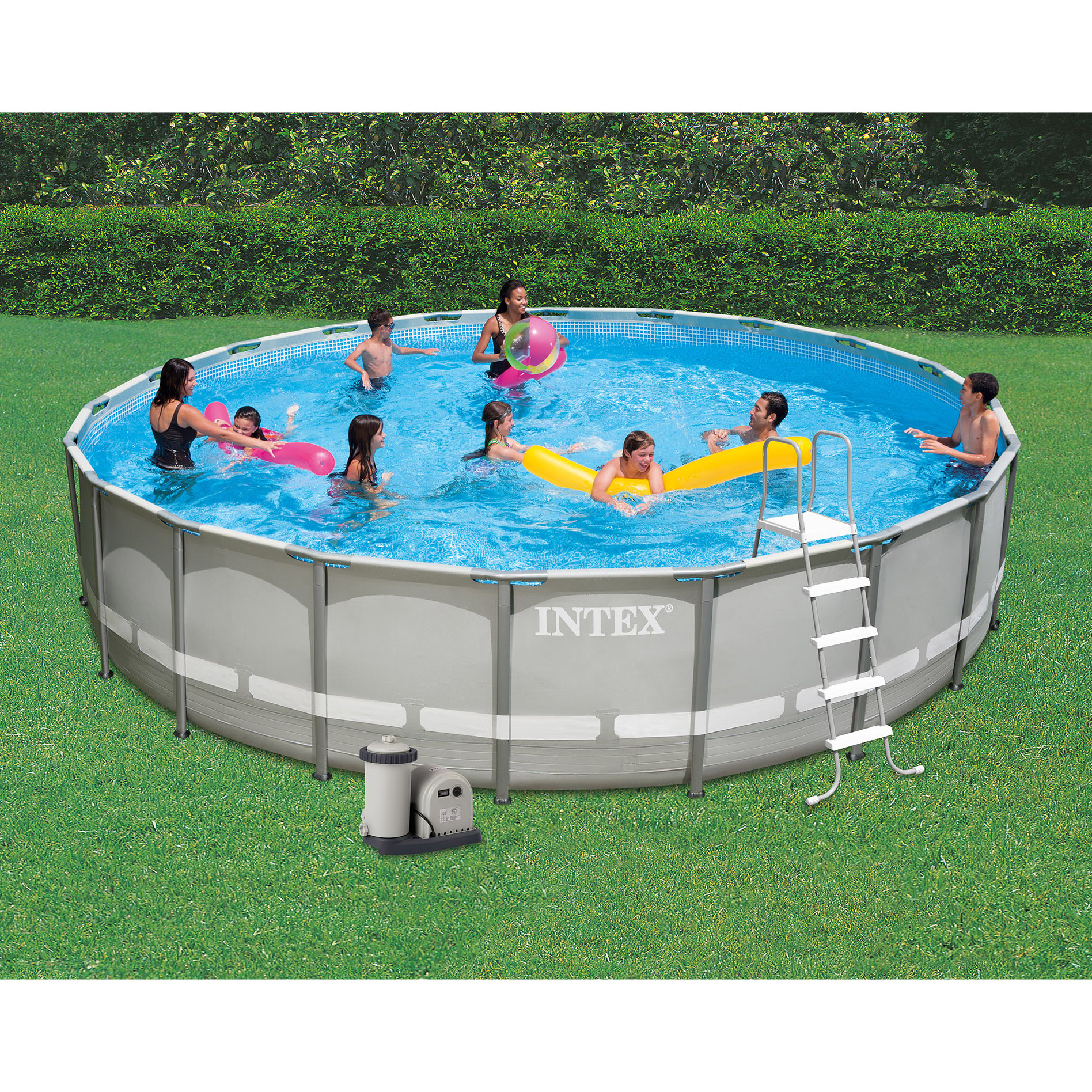 Intex 24 39 x 52 ultra frame above ground swimming pool set for Ground swimming pools
