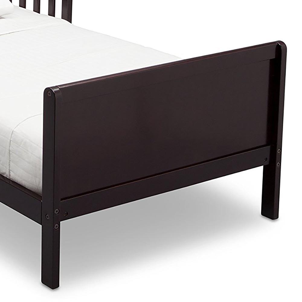 Delta Children Bennett Kids Toddler Bed Dark Chocolate Brown Frame W Guardrails