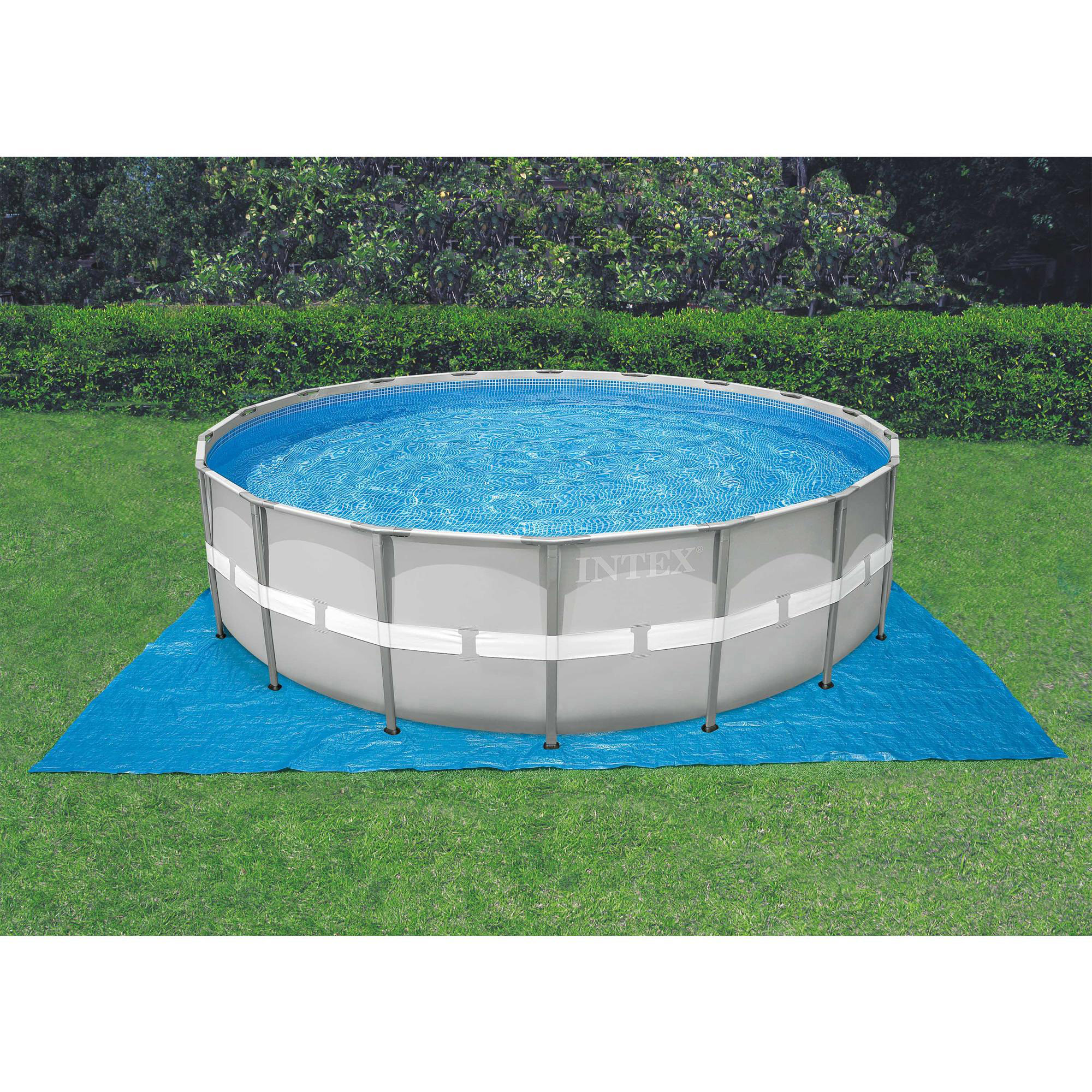 Intex 24 39 x 52 ultra frame above ground swimming pool set for Billige pool sets