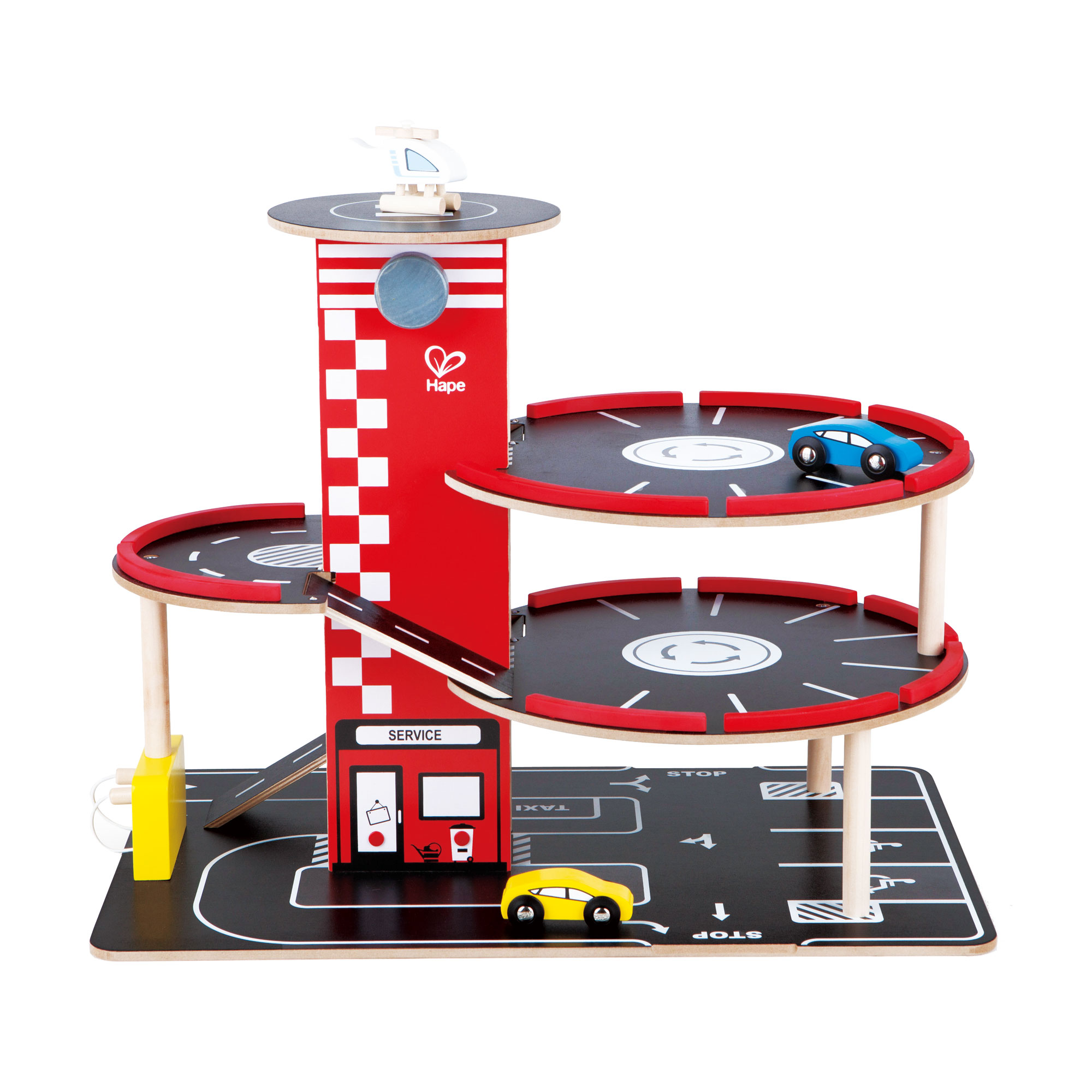 Hape Toddler Wooden Toy Play Set RaceAround Parking Garage