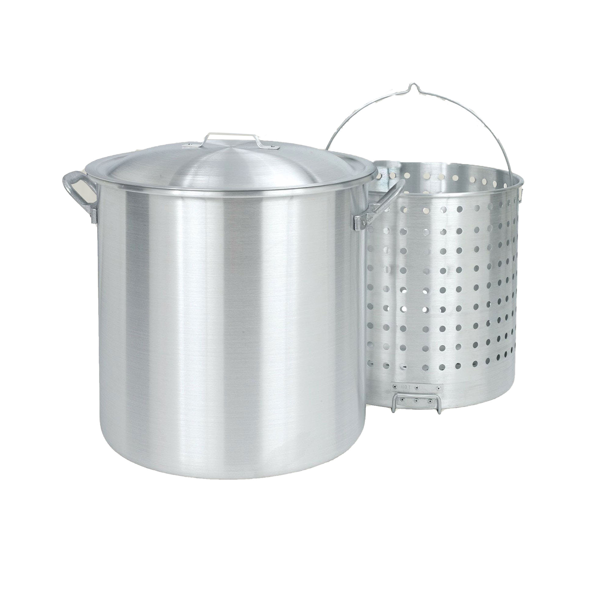 Bayou Clic Large 100 Quart Stainless Steel Stockpot Boiler Handy Basket