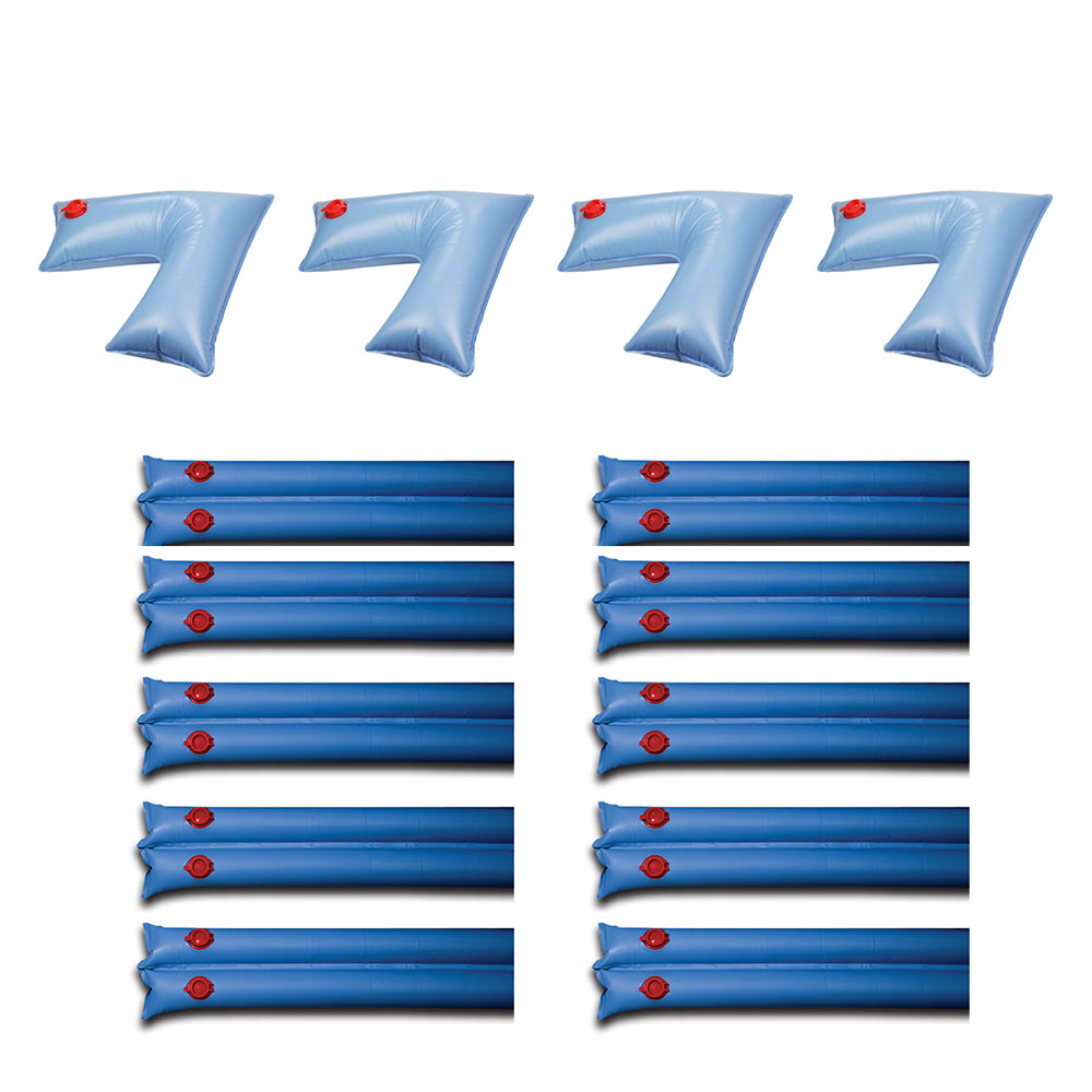 Details about Swimline Pool Cover Corner Weights (4 Pack) & Winter Cover  Water Tubes (10 Pack)