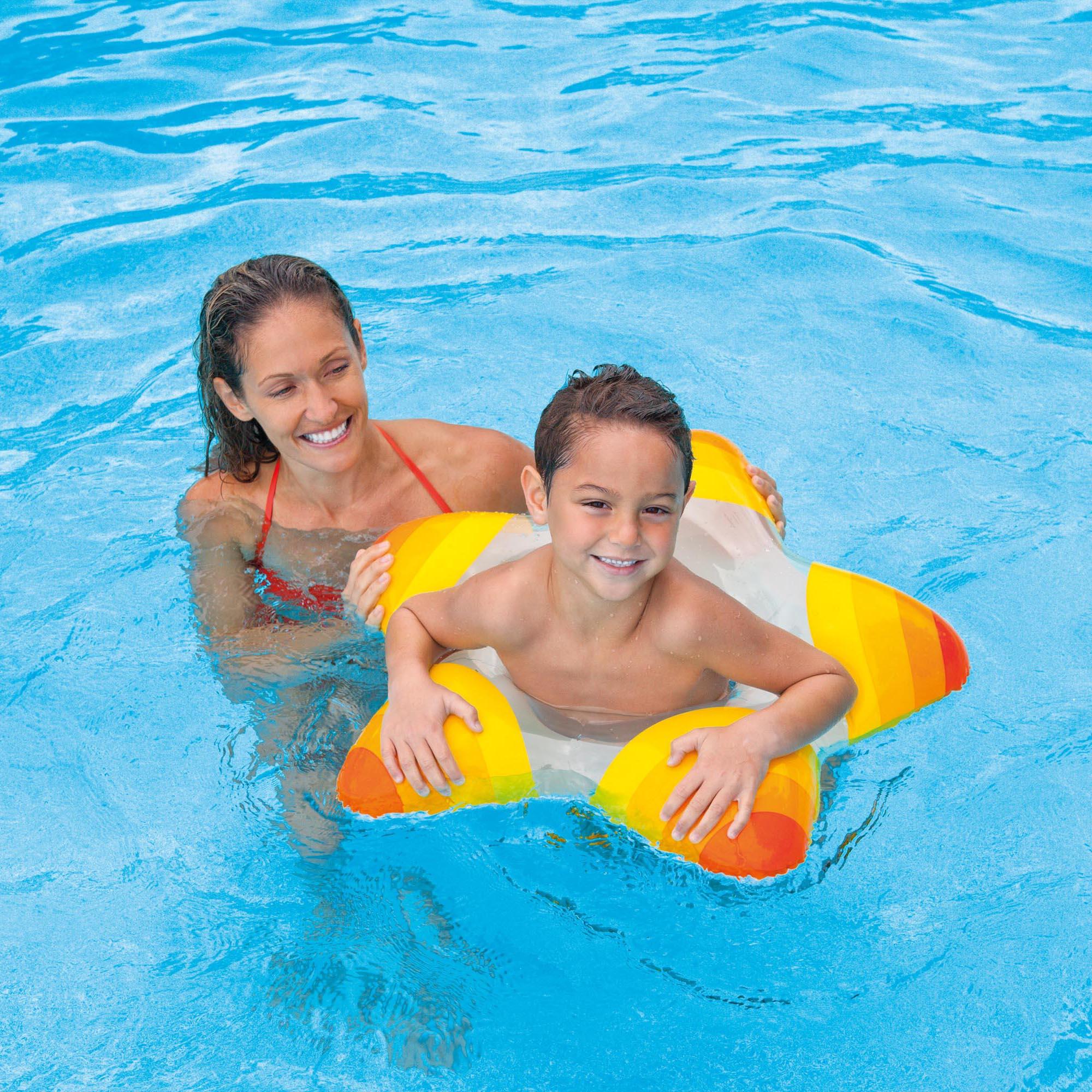 Intex Inflatable Swimming Pool Star Rings Kiddie Tube Raft Float 59243ep