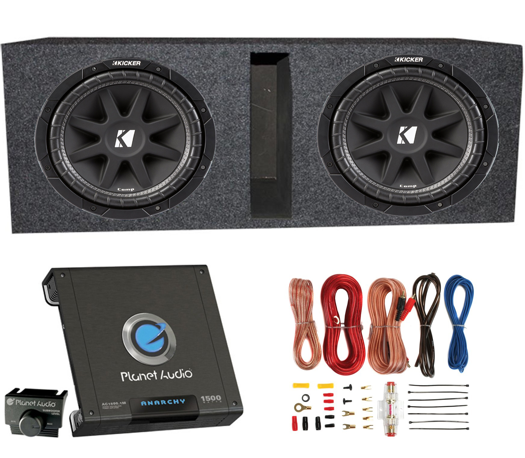 2 Kicker 43c124 600 Watt 12 Subwoofers Ported Box Enclosure Wiring Car Audio Amplifiers For Two Image Is Loading 034