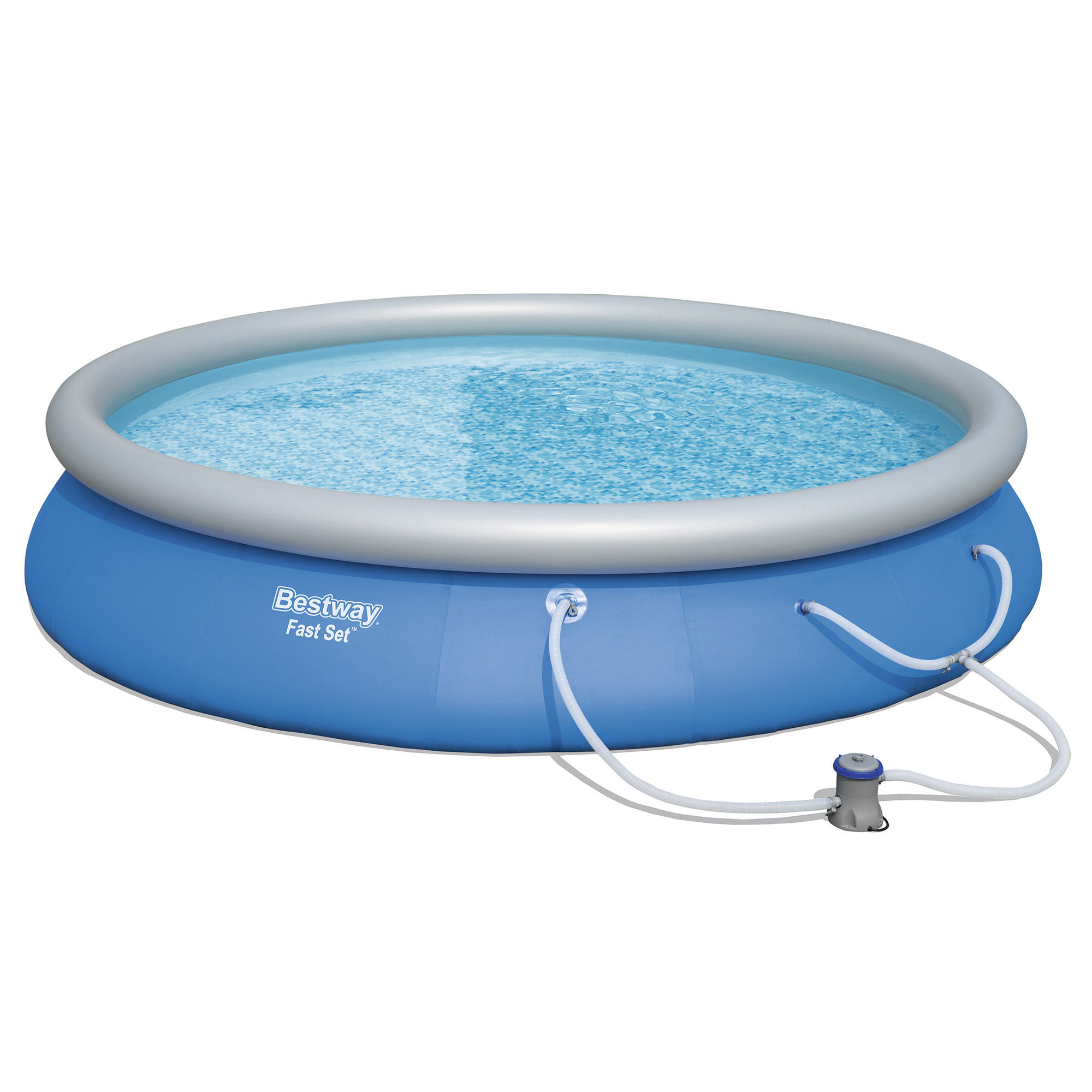 Bestway 15 39 x 33 fast set inflatable above ground for Inflatable above ground pools