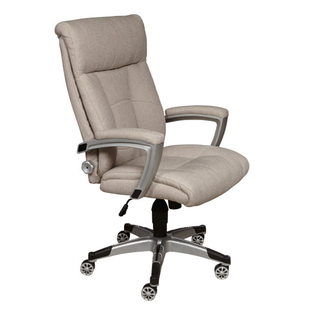Accentrics Home Sealy Posturepedic Cool Foam Swivel Office Desk Chair Sandstone