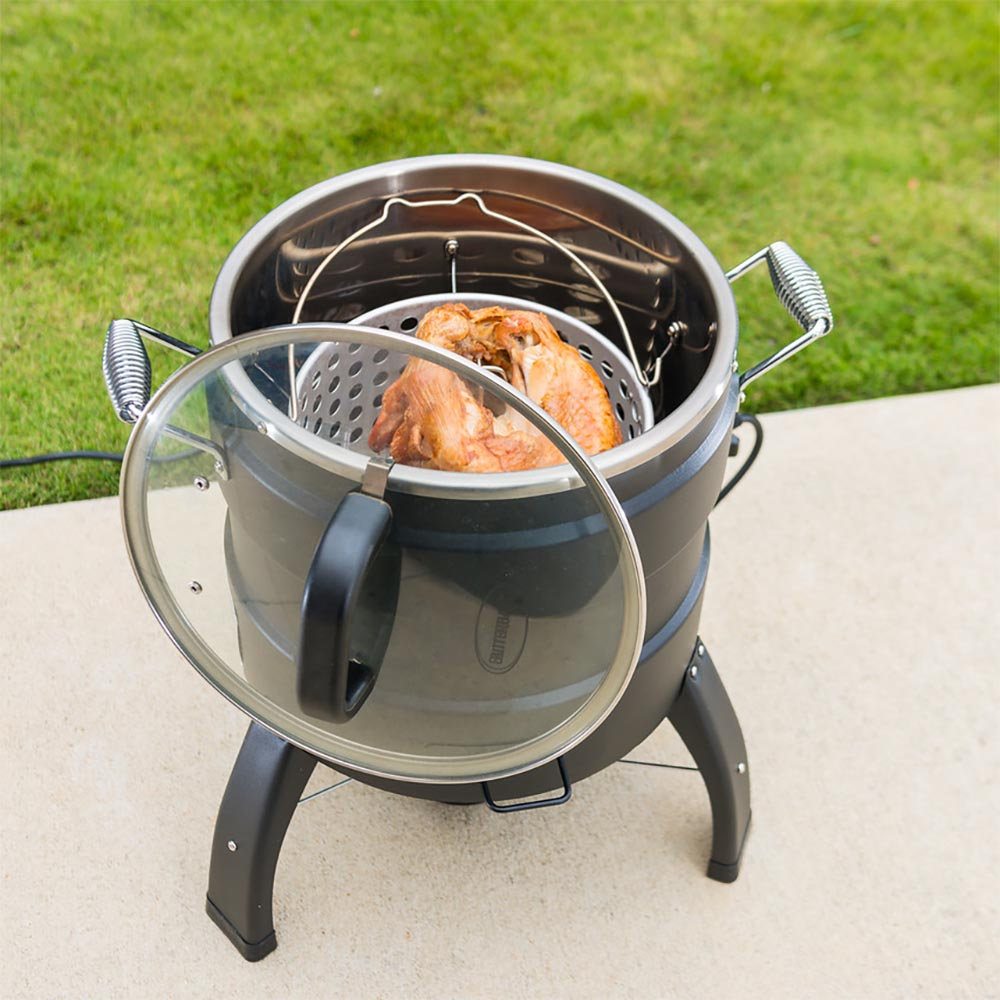 masterbuilt outdoor butterball oil free electric 18 lb turkey roaster and fryer auctions buy. Black Bedroom Furniture Sets. Home Design Ideas