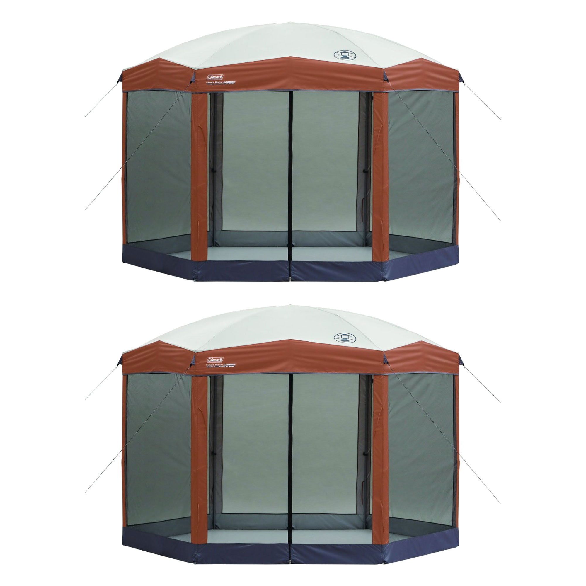 Coleman Back Home 12 x 10-Foot Instant Screen House Hexagon Canopy (2 Pack)
