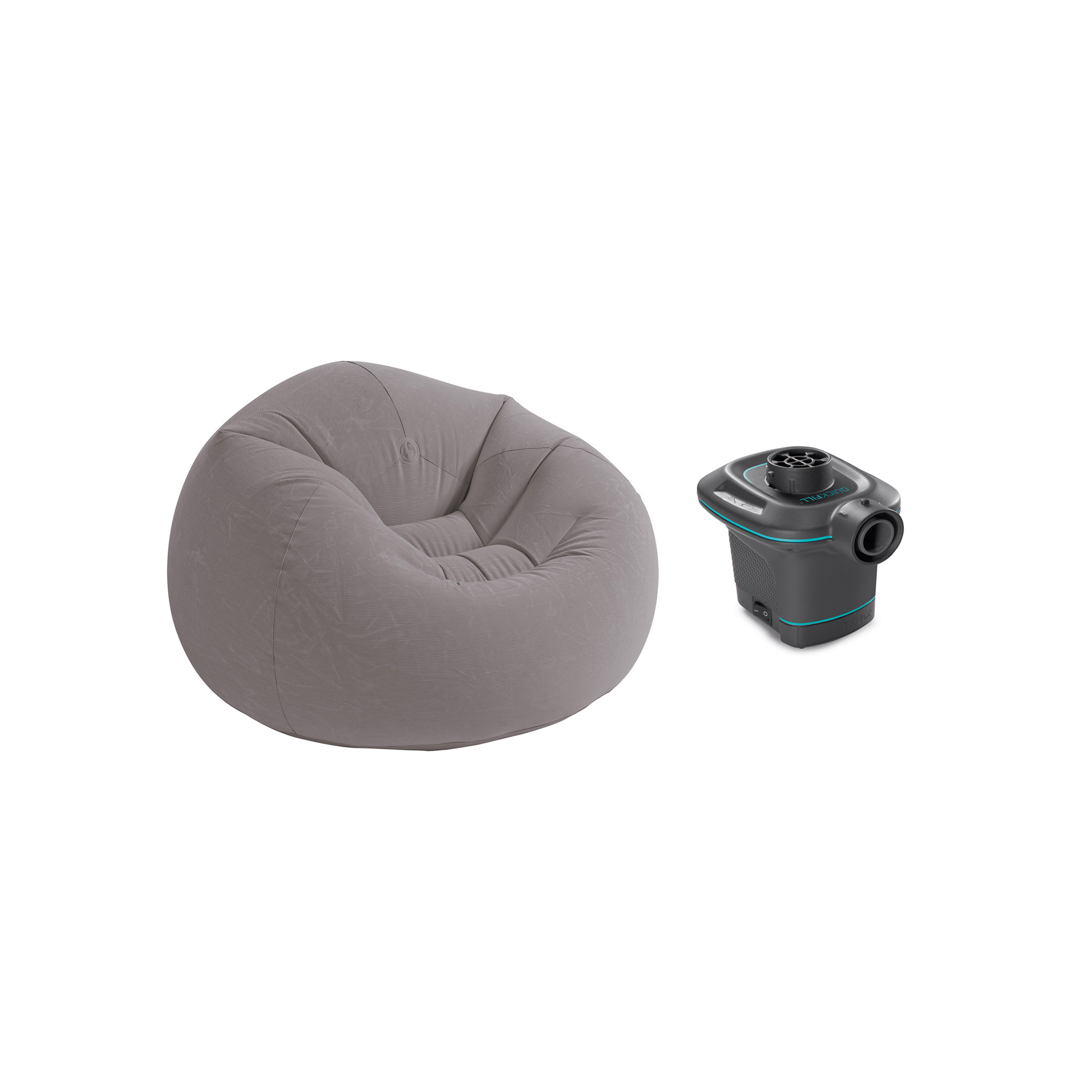 Fine Details About Intex 120V Ac Electric Air Pump Inflatable Corduroy Beanless Bag Lounge Chair Onthecornerstone Fun Painted Chair Ideas Images Onthecornerstoneorg